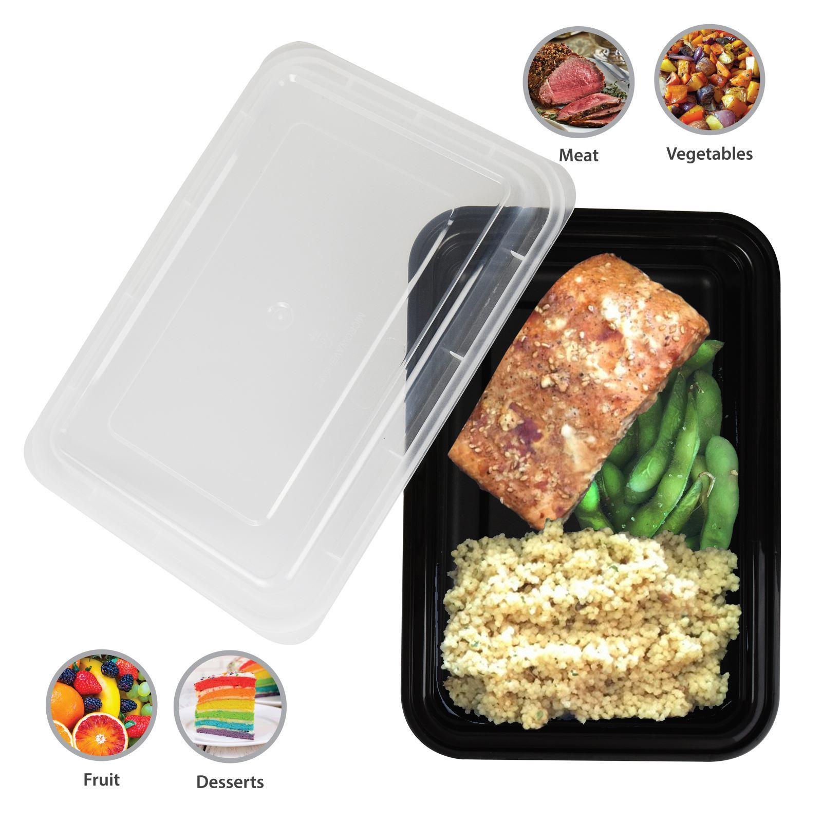 Meal prep food containers microwave bpa free plastic lunch - Lunch box micro onde ...