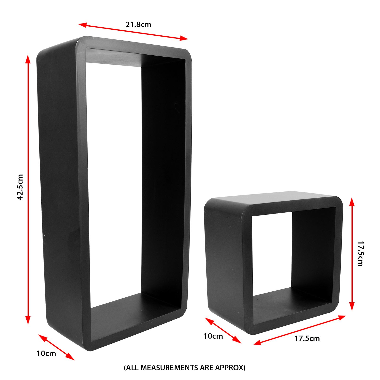 3pc-Set-Rectangle-Floating-Shelves-Wall-Mount-Storage-Book-Shelf-DVD-CD-Stand thumbnail 6