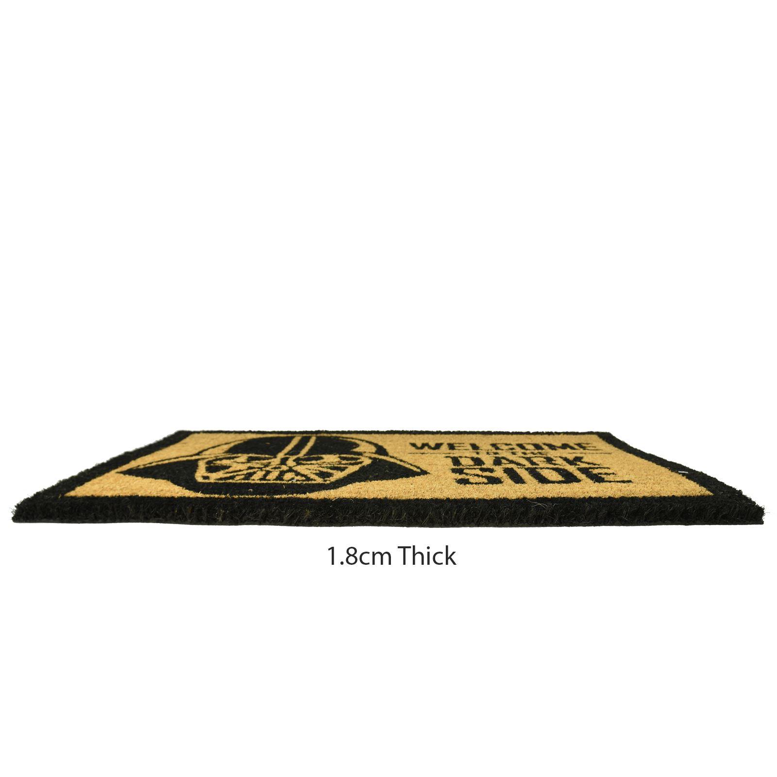 Plain-Non-Slip-Door-Mat-Tough-Natural-Coir-PVC-Back-Welcome-Doormat-40-x-60cm miniatura 38