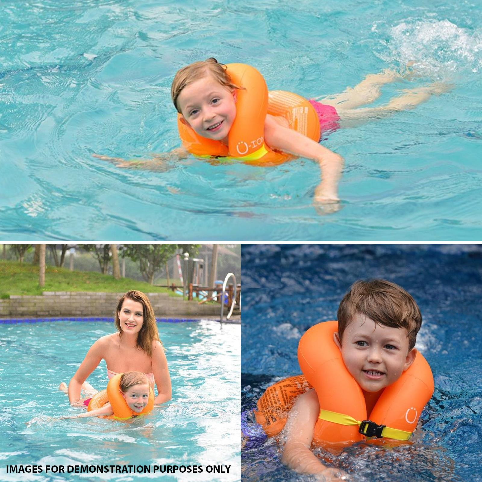Kids-Inflatable-Safety-U-Ion-Vest-Floating-Swimming-Aid-Buoyancy-Jacket miniatura 5