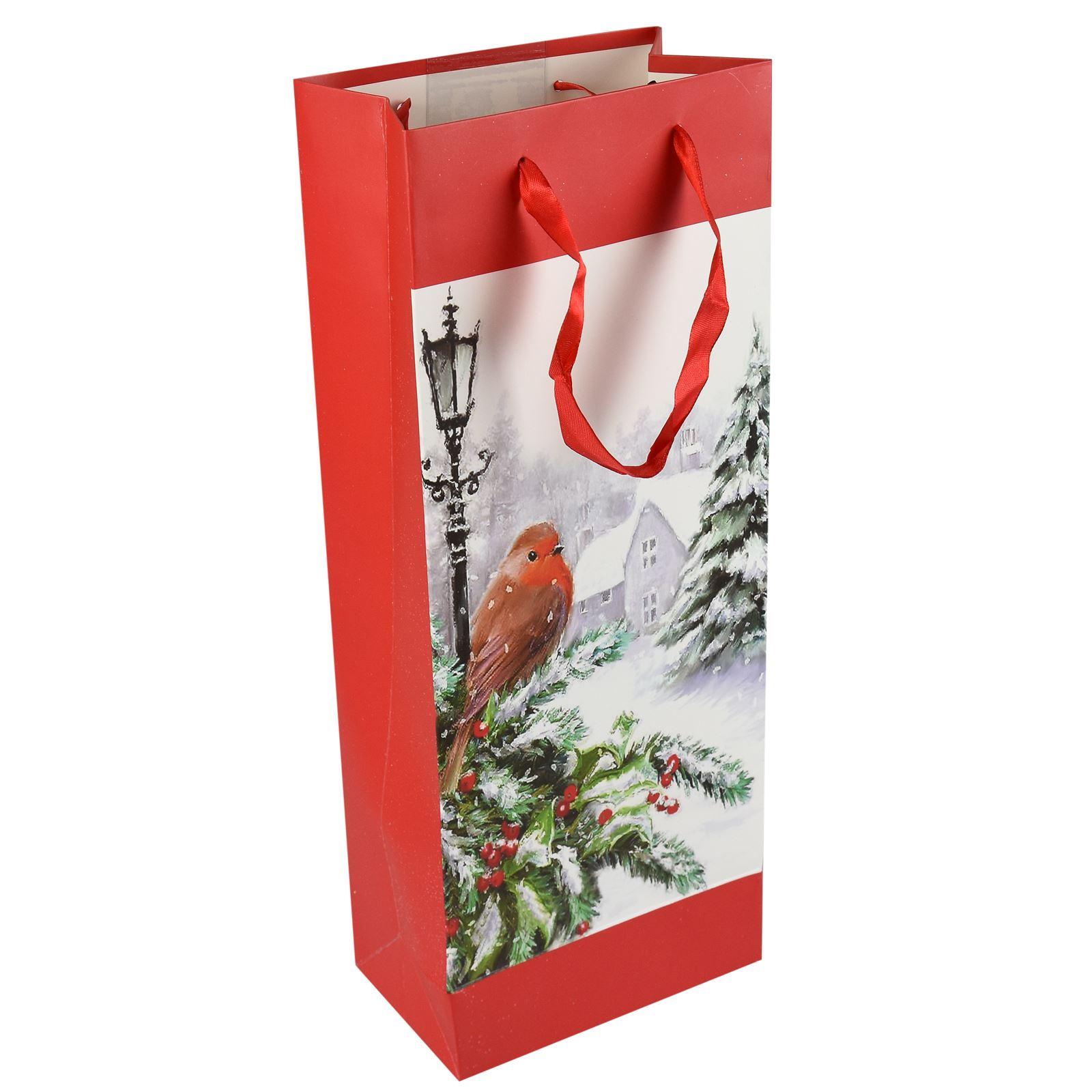 Tradizionale-Regalo-di-Natale-Borse-Regalo-Natale-Inverno-Glitter-Design-Paper-Carrier miniatura 6