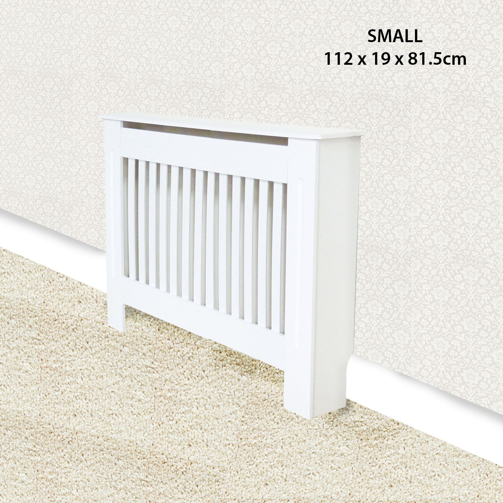 Traditional-Radiator-Cover-Cabinet-Vertical-Slatted-MDF-Wood-Small-Large-Unit thumbnail 3