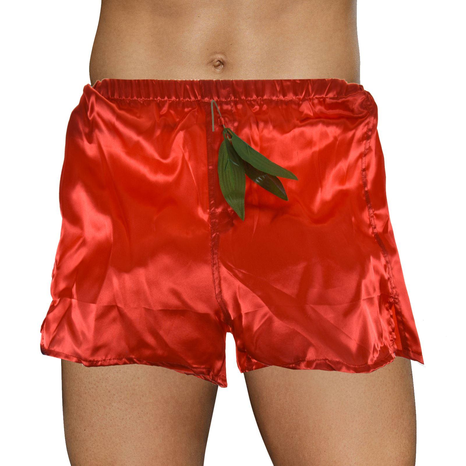 Christmas Novelty Adults Red Satin Boxer Shorts Pants Underwear Xmas Mistletoe   eBay