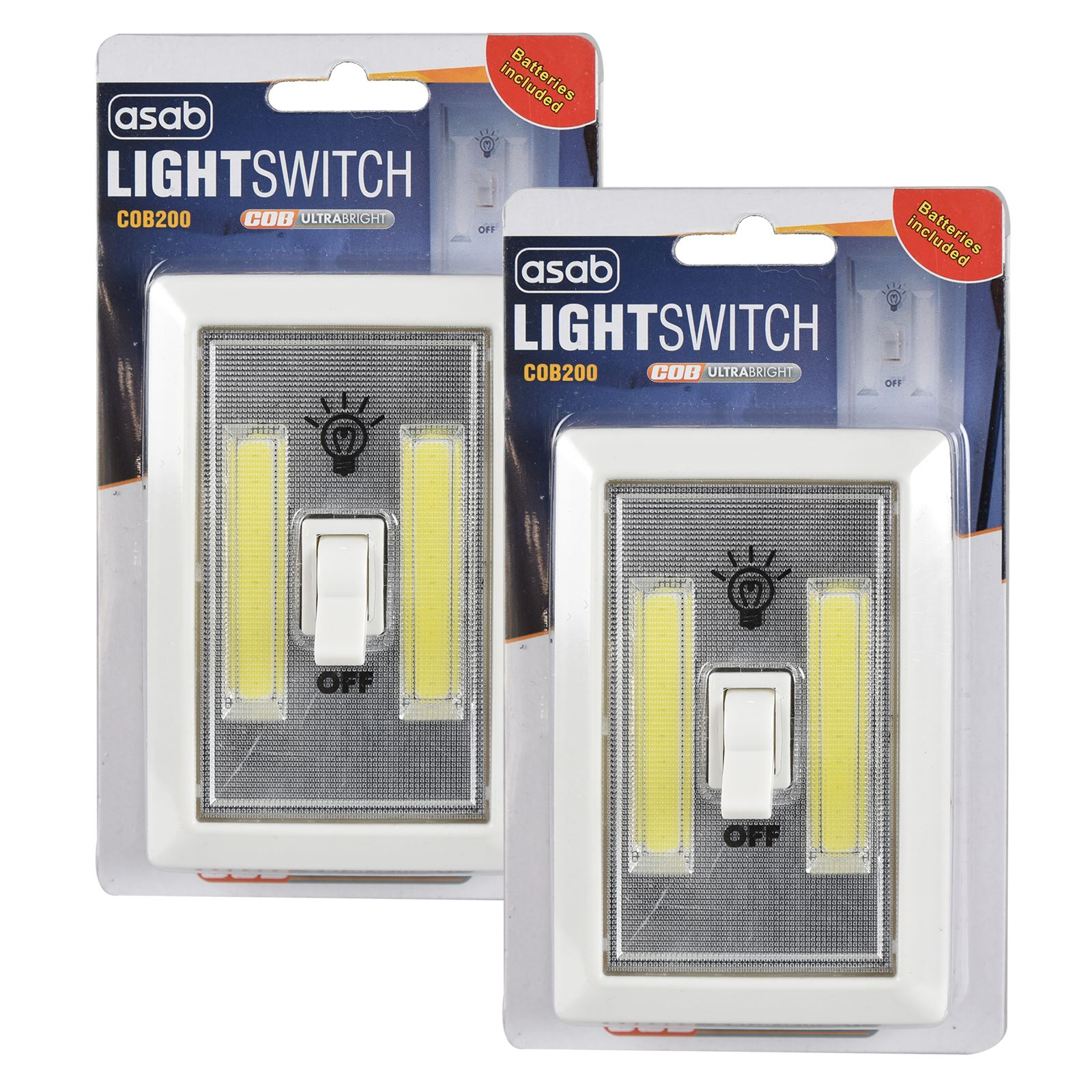 Cob Led 2w Light Switch Super Bright Battery Powered No Wire Wiring A Ireland