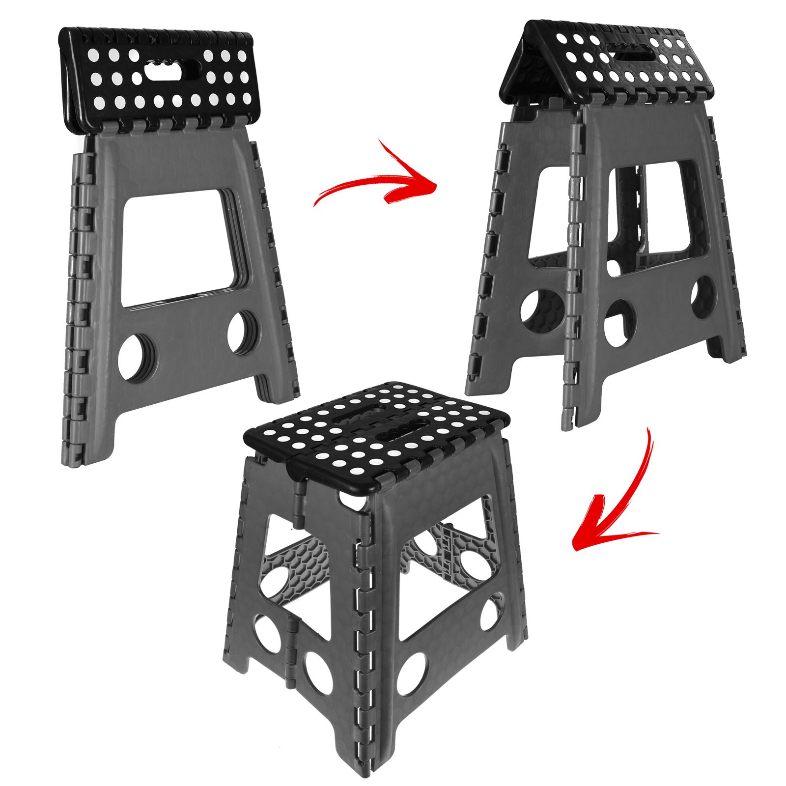 Large Multi Purpose Fold Step Stool Plastic Home Kitchen