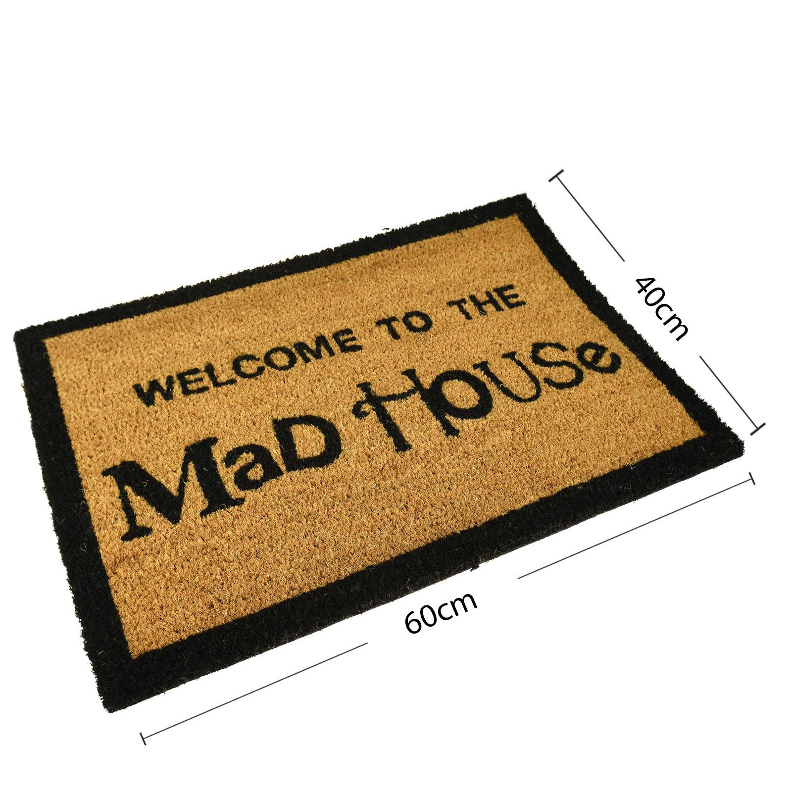 Plain-Non-Slip-Door-Mat-Tough-Natural-Coir-PVC-Back-Welcome-Doormat-40-x-60cm miniatura 86