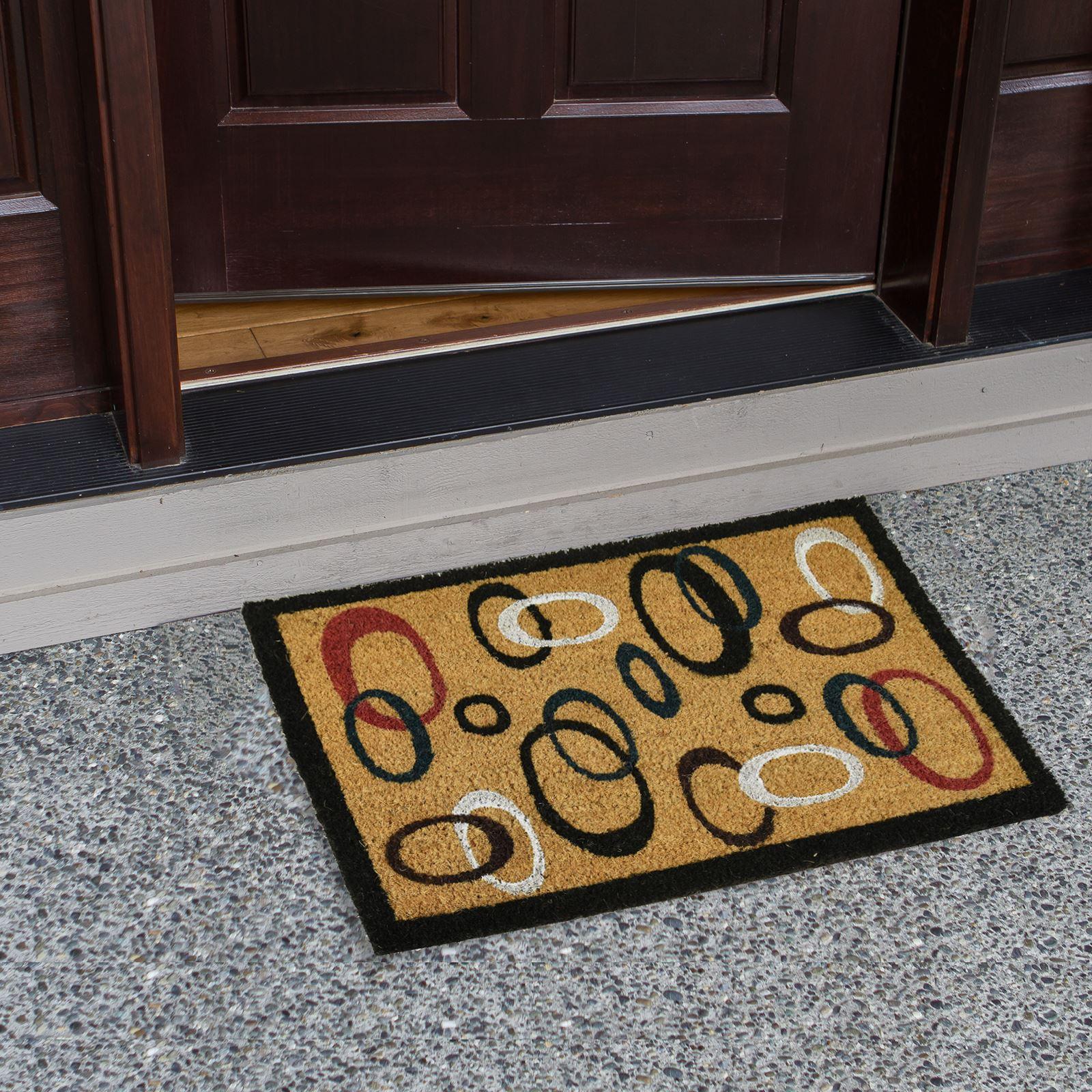 Plain-Non-Slip-Door-Mat-Tough-Natural-Coir-PVC-Back-Welcome-Doormat-40-x-60cm miniatura 30