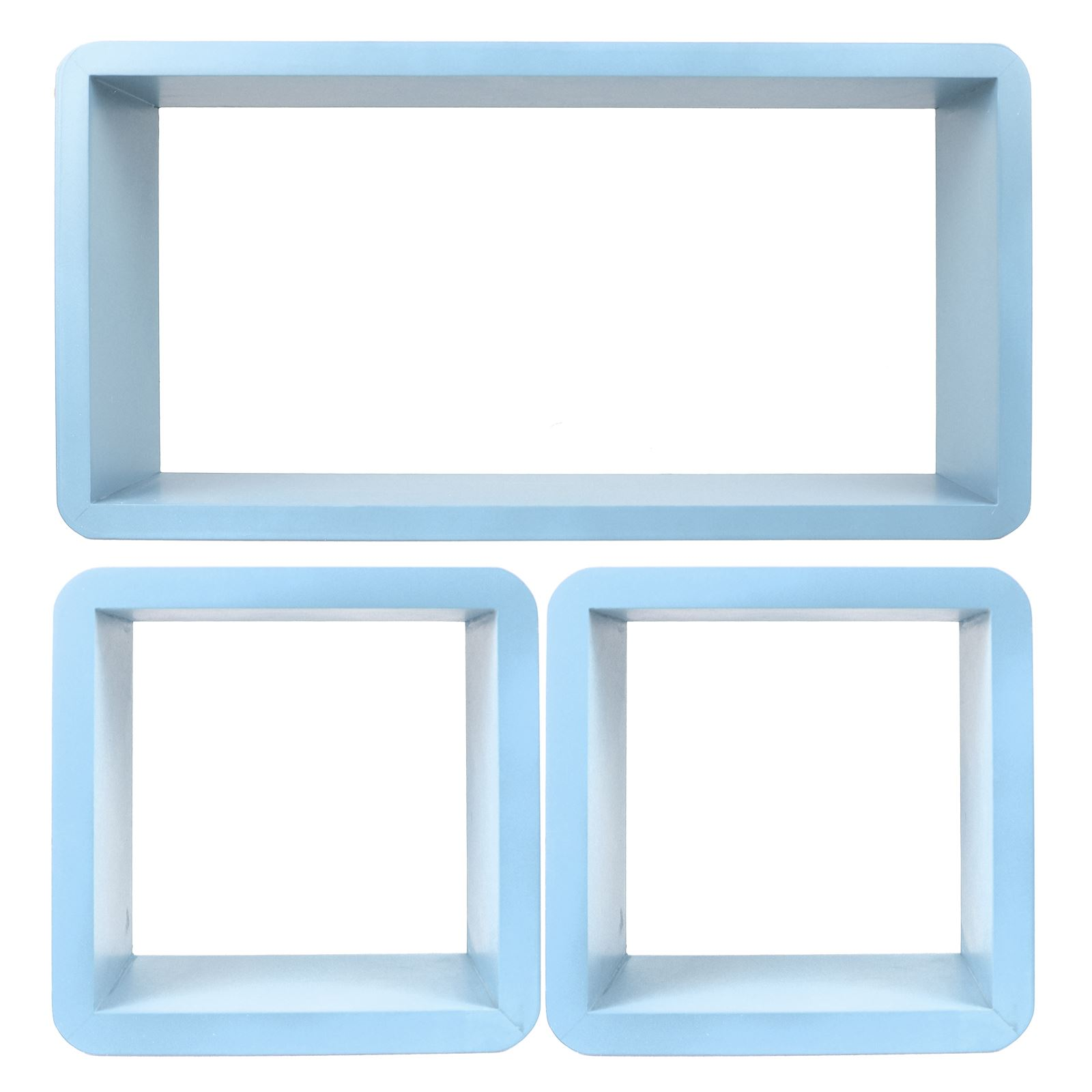 3pc-Set-Rectangle-Floating-Shelves-Wall-Mount-Storage-Book-Shelf-DVD-CD-Stand thumbnail 11