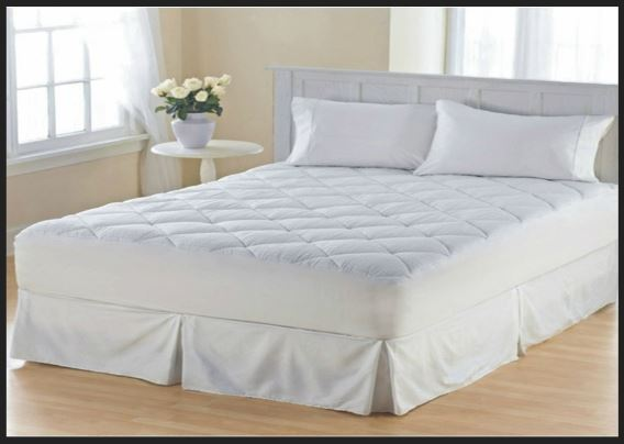 Laura secret quilted bed mattress protector cover topper for Cubierta cama