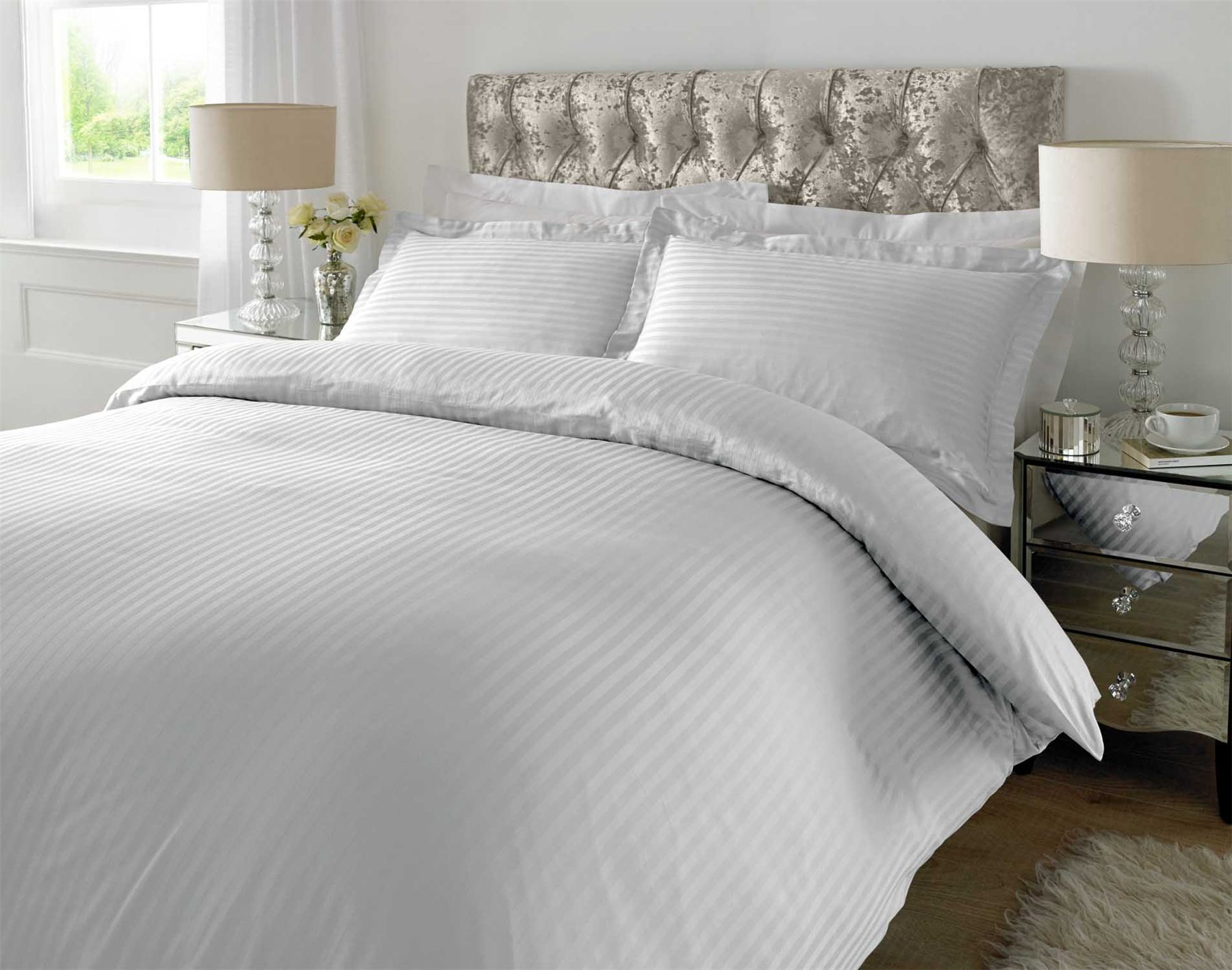 100 cotton luxury duvet cover set pillow case bedding single double king size ebay. Black Bedroom Furniture Sets. Home Design Ideas