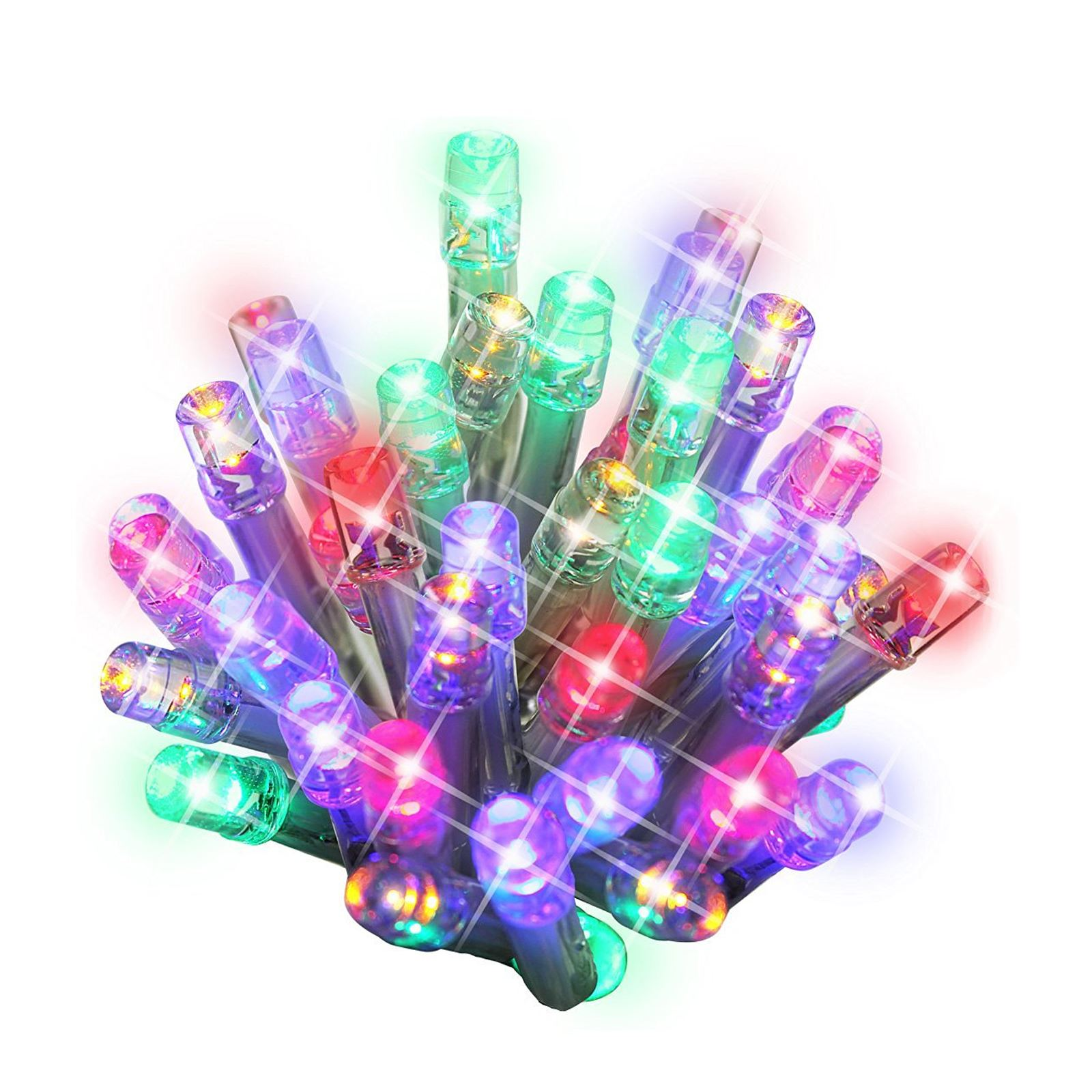 100 led string chaser christmas lights flash festive