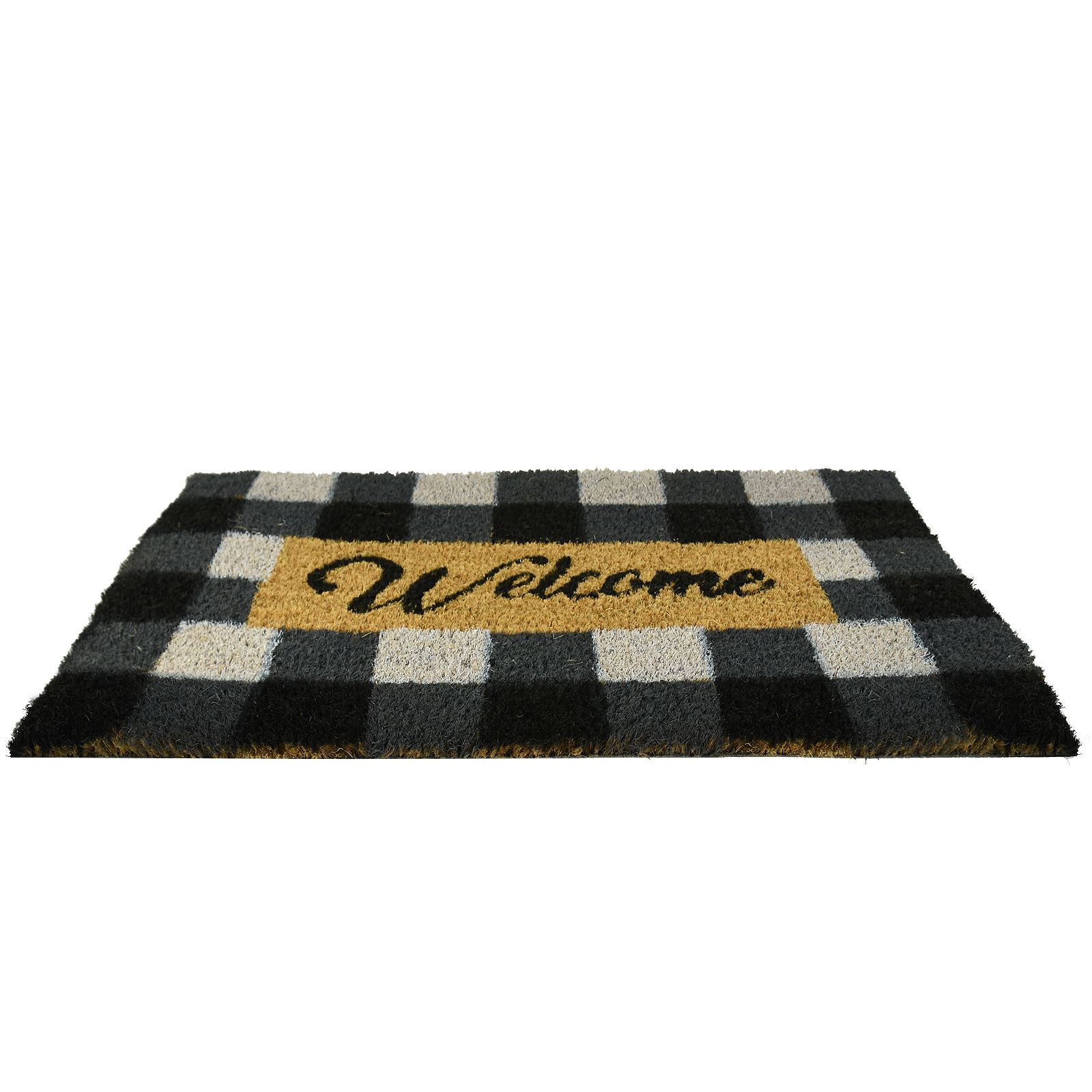 Plain-Non-Slip-Door-Mat-Tough-Natural-Coir-PVC-Back-Welcome-Doormat-40-x-60cm miniatura 15
