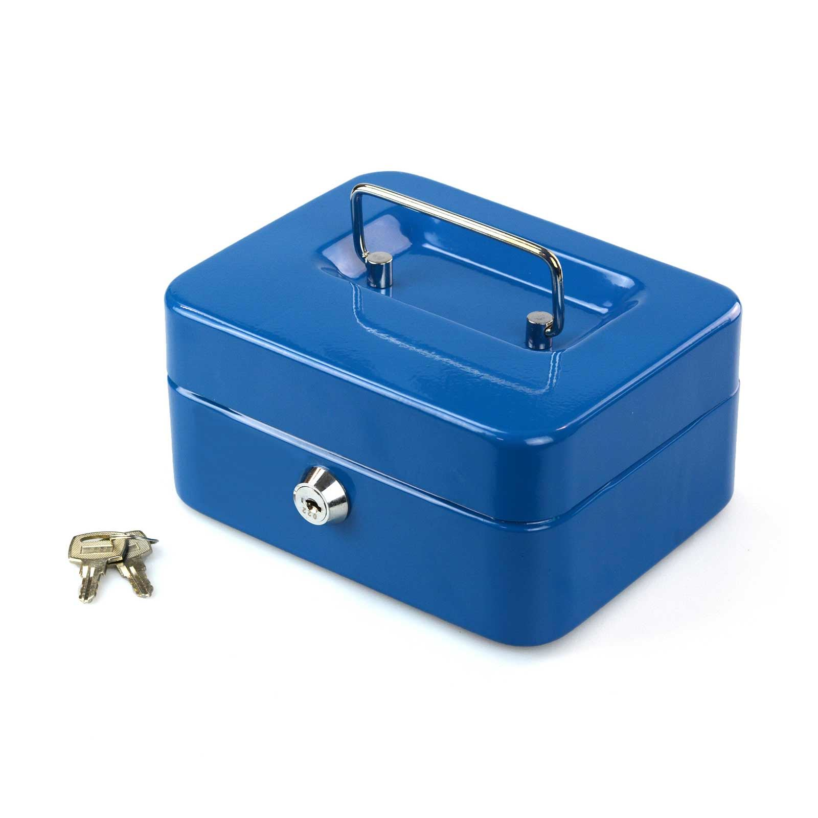 Petty-Cash-Safety-Deposit-Box-Metal-Security-Steel-Money-Bank-Coin-Tray-holder thumbnail 10