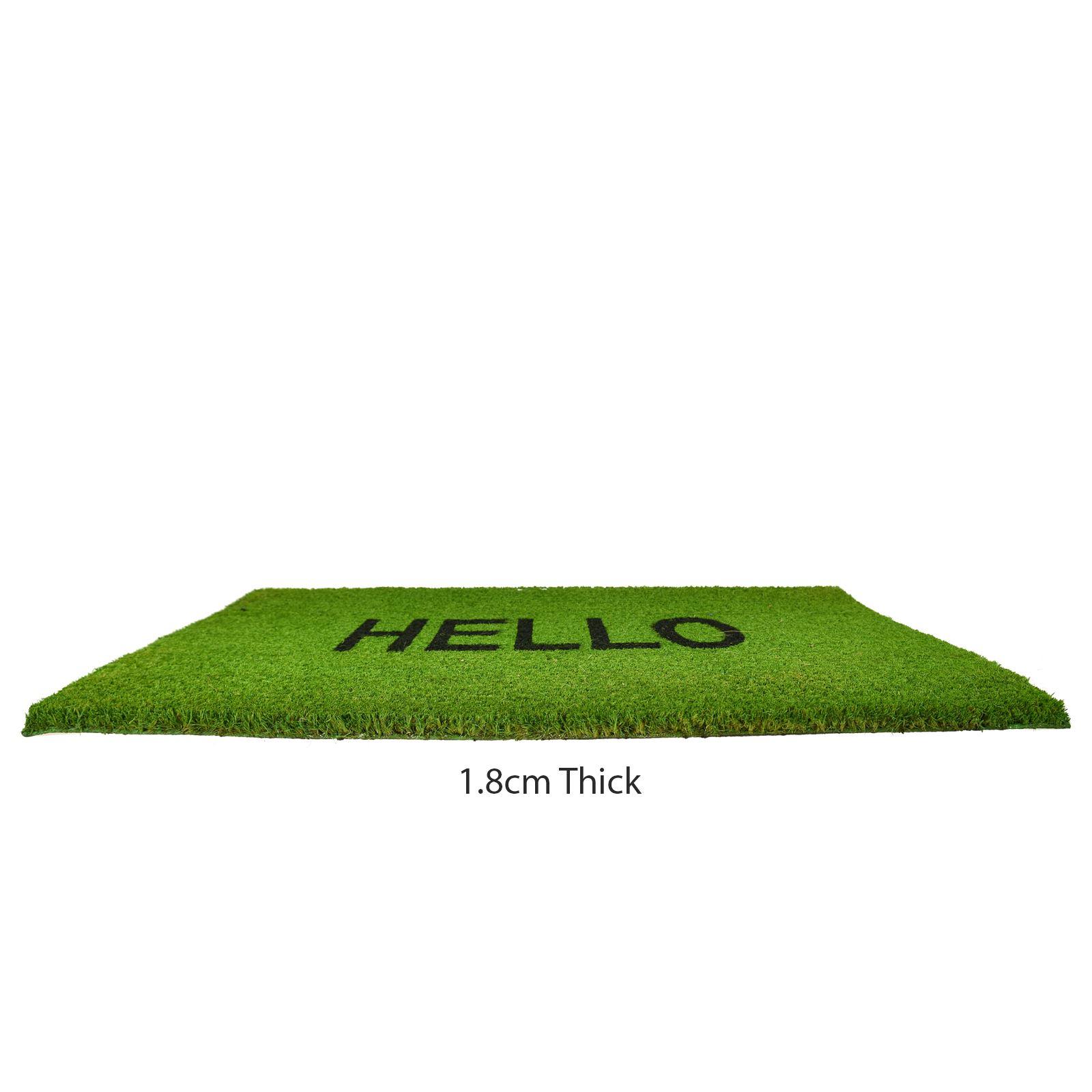 Plain-Non-Slip-Door-Mat-Tough-Natural-Coir-PVC-Back-Welcome-Doormat-40-x-60cm miniatura 67