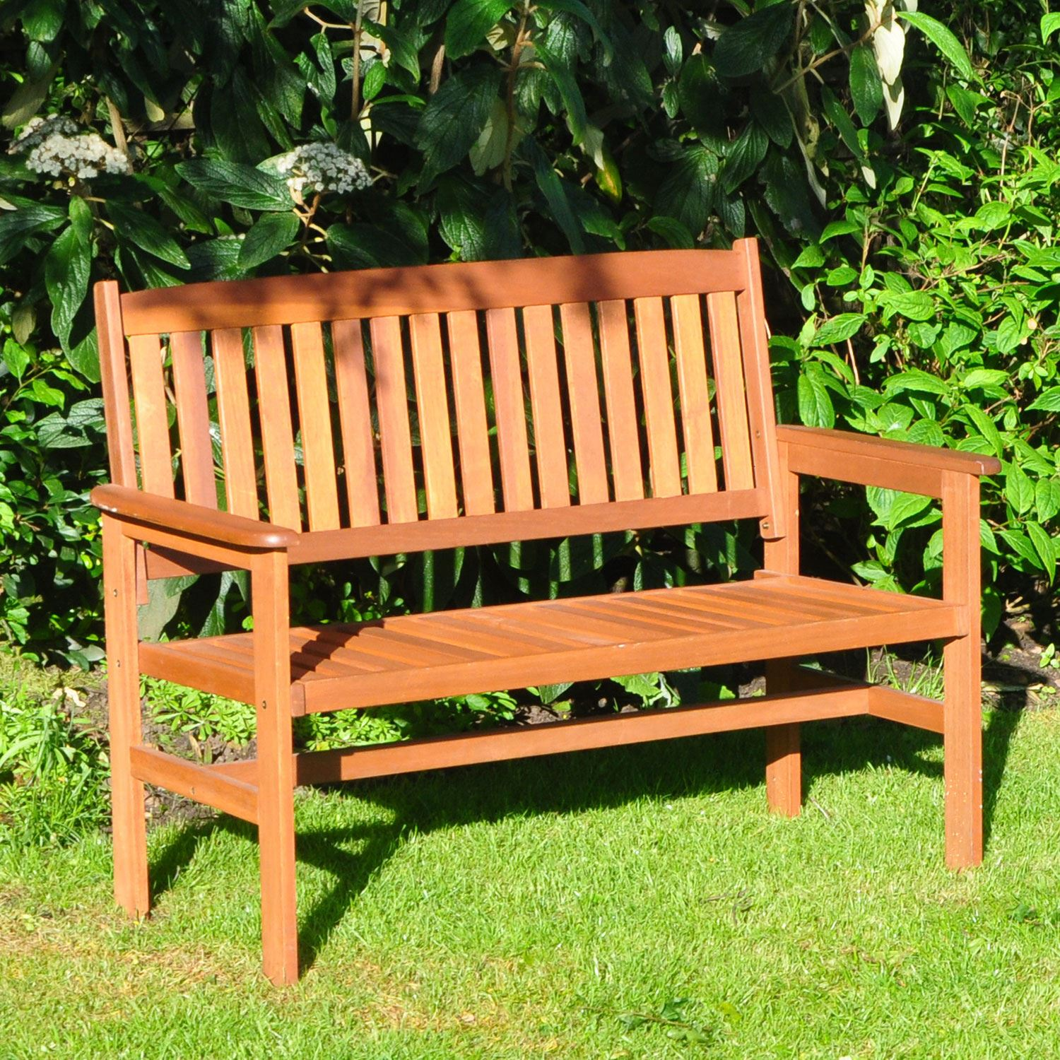 Garden-Bench-2-3-Seater-Wooden-Metal-Legs-Outdoor-Home-Patio-Furniture-Lattice thumbnail 6