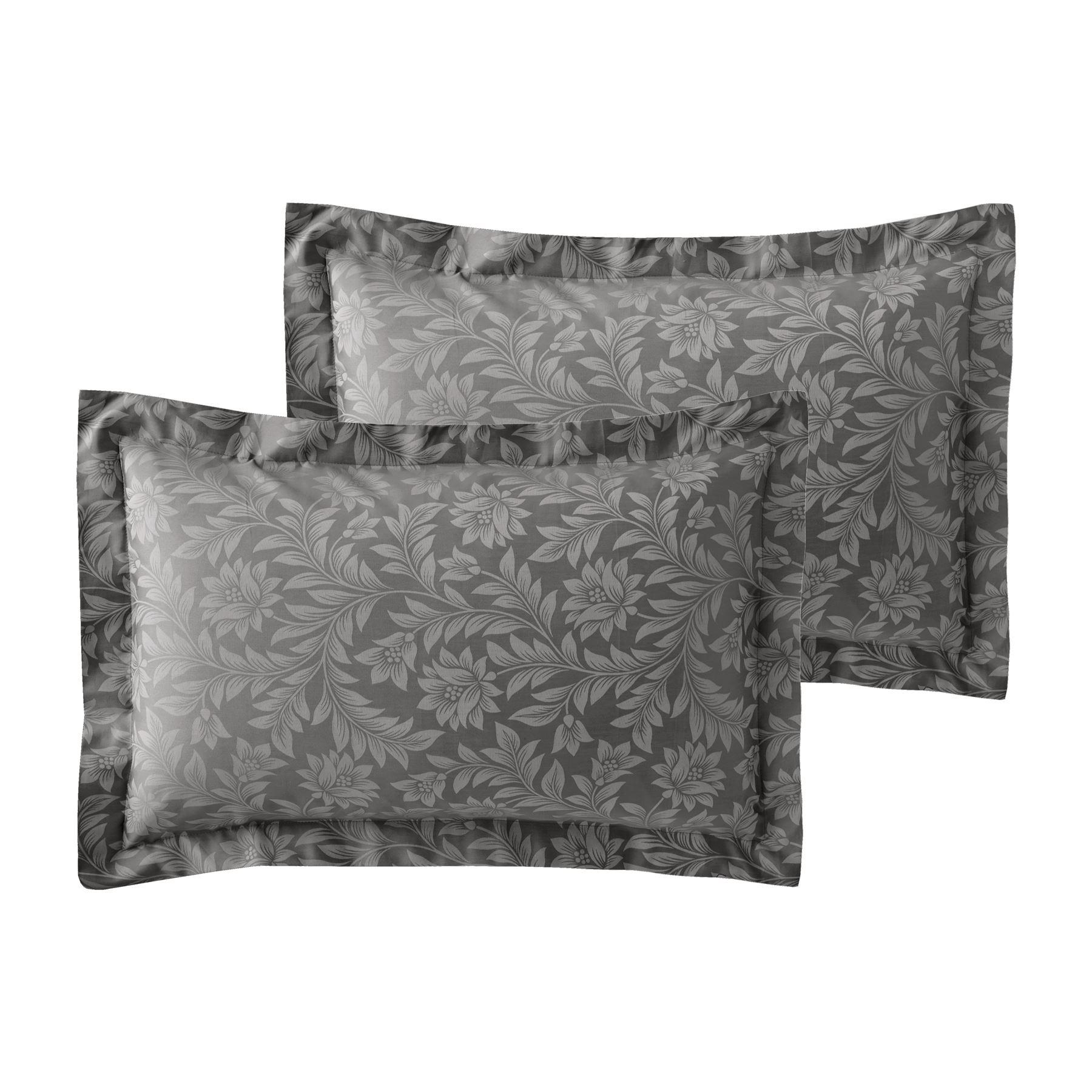 Jacquard-600-Hilos-De-Algodon-Rico-Floral-Duvet-Cover-Set-Fundas-de-almohada-Oxford miniatura 14