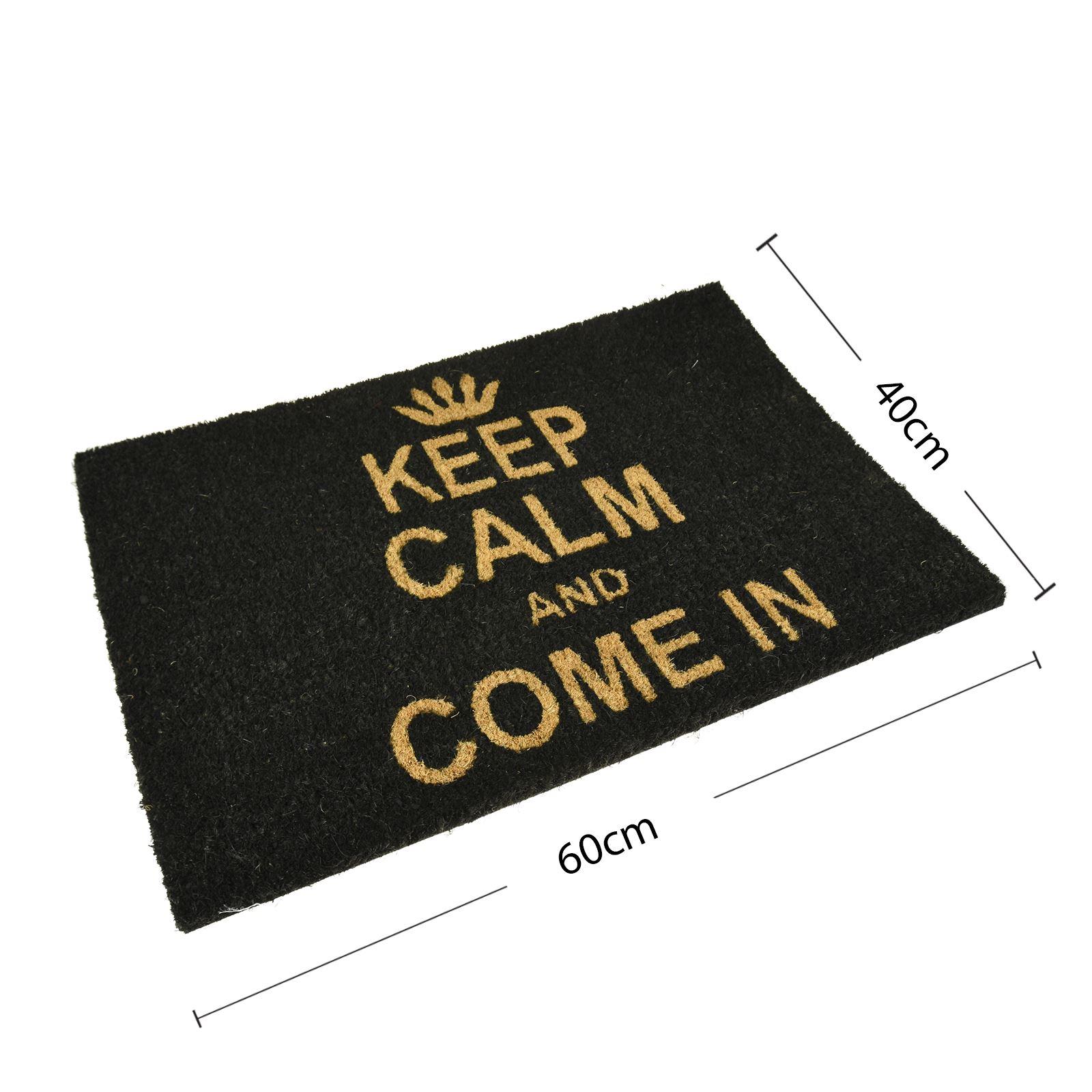Plain-Non-Slip-Door-Mat-Tough-Natural-Coir-PVC-Back-Welcome-Doormat-40-x-60cm miniatura 75