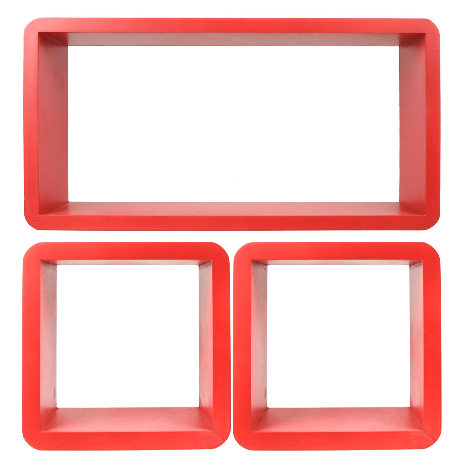 3pc-Set-Rectangle-Floating-Shelves-Wall-Mount-Storage-Book-Shelf-DVD-CD-Stand thumbnail 15