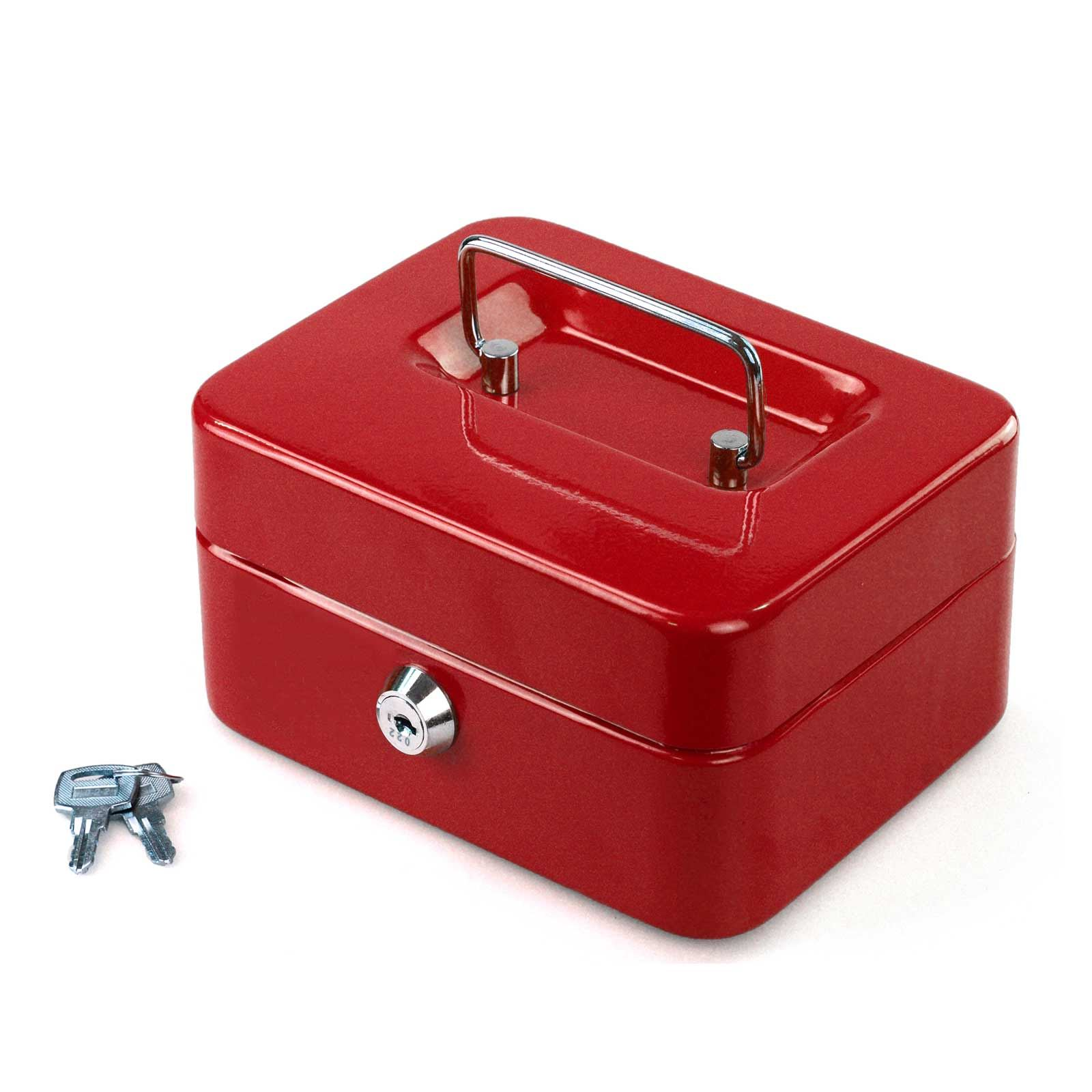 Petty-Cash-Safety-Deposit-Box-Metal-Security-Steel-Money-Bank-Coin-Tray-holder thumbnail 12