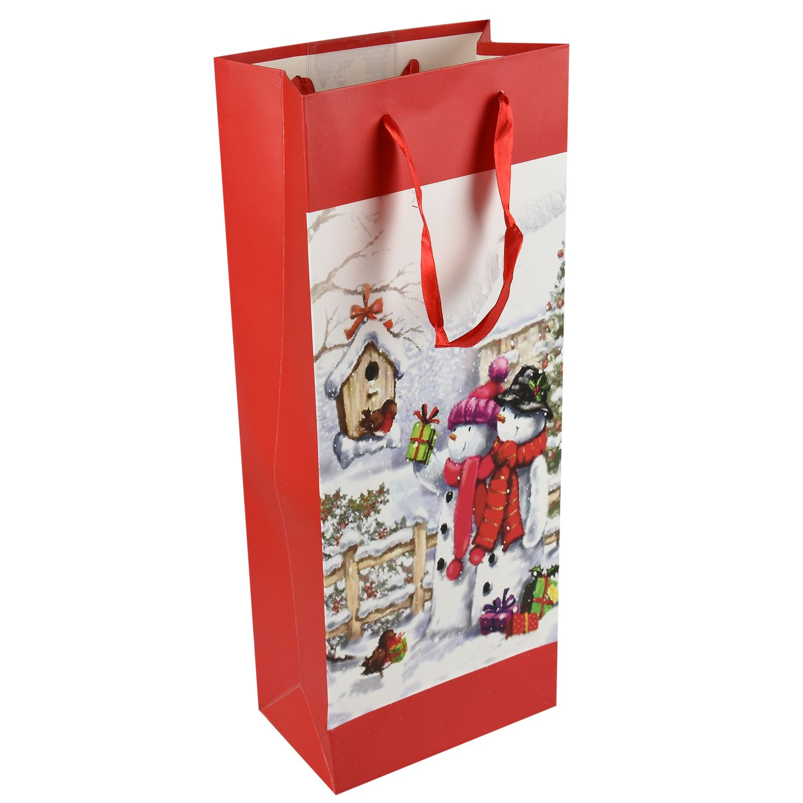 Tradizionale-Regalo-di-Natale-Borse-Regalo-Natale-Inverno-Glitter-Design-Paper-Carrier miniatura 3