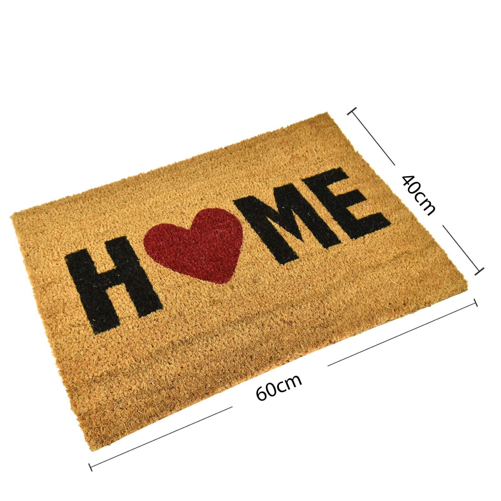 Plain-Non-Slip-Door-Mat-Tough-Natural-Coir-PVC-Back-Welcome-Doormat-40-x-60cm miniatura 50