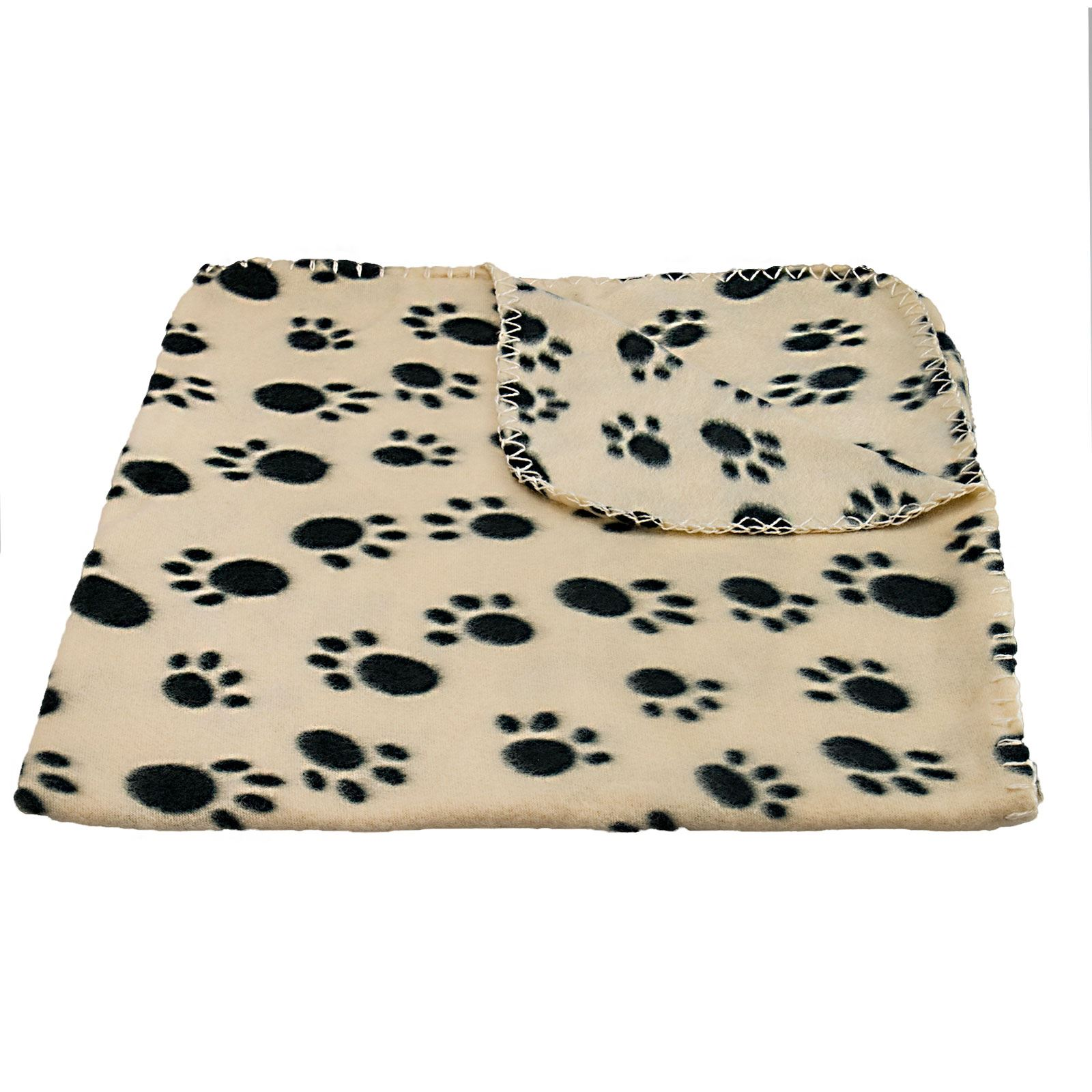 Pet-Blanket-Dogs-amp-Puppy-Cat-Paw-Print-Soft-Warm-Fleece-Bed-Travel-Basket-Car thumbnail 5