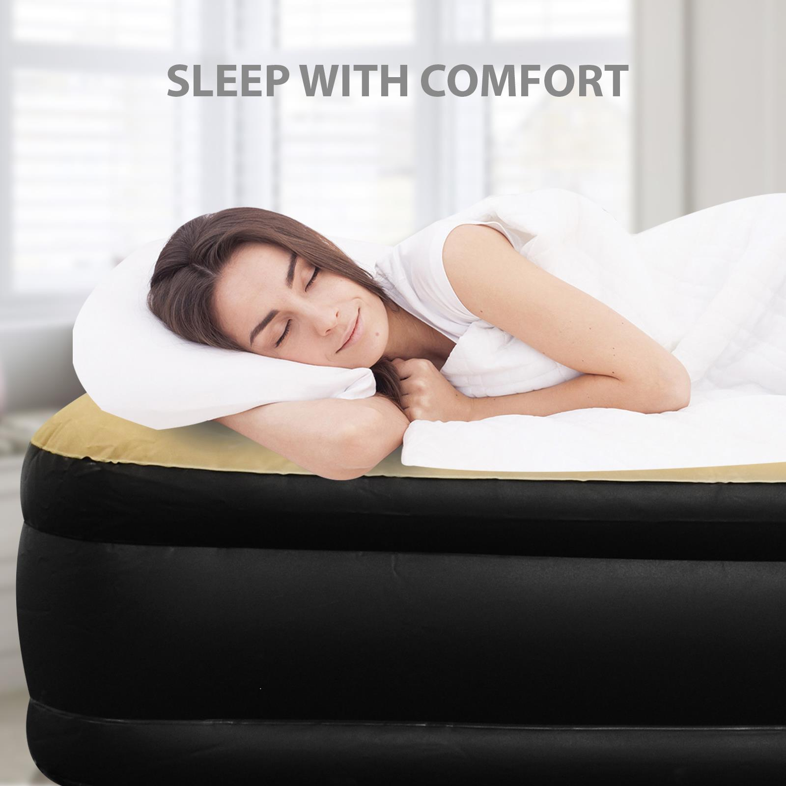 Jilong-Luxury-Air-Bed-Mattress-Soft-Flocked-Inflatable-Relaxing-Airbed-Camping thumbnail 7
