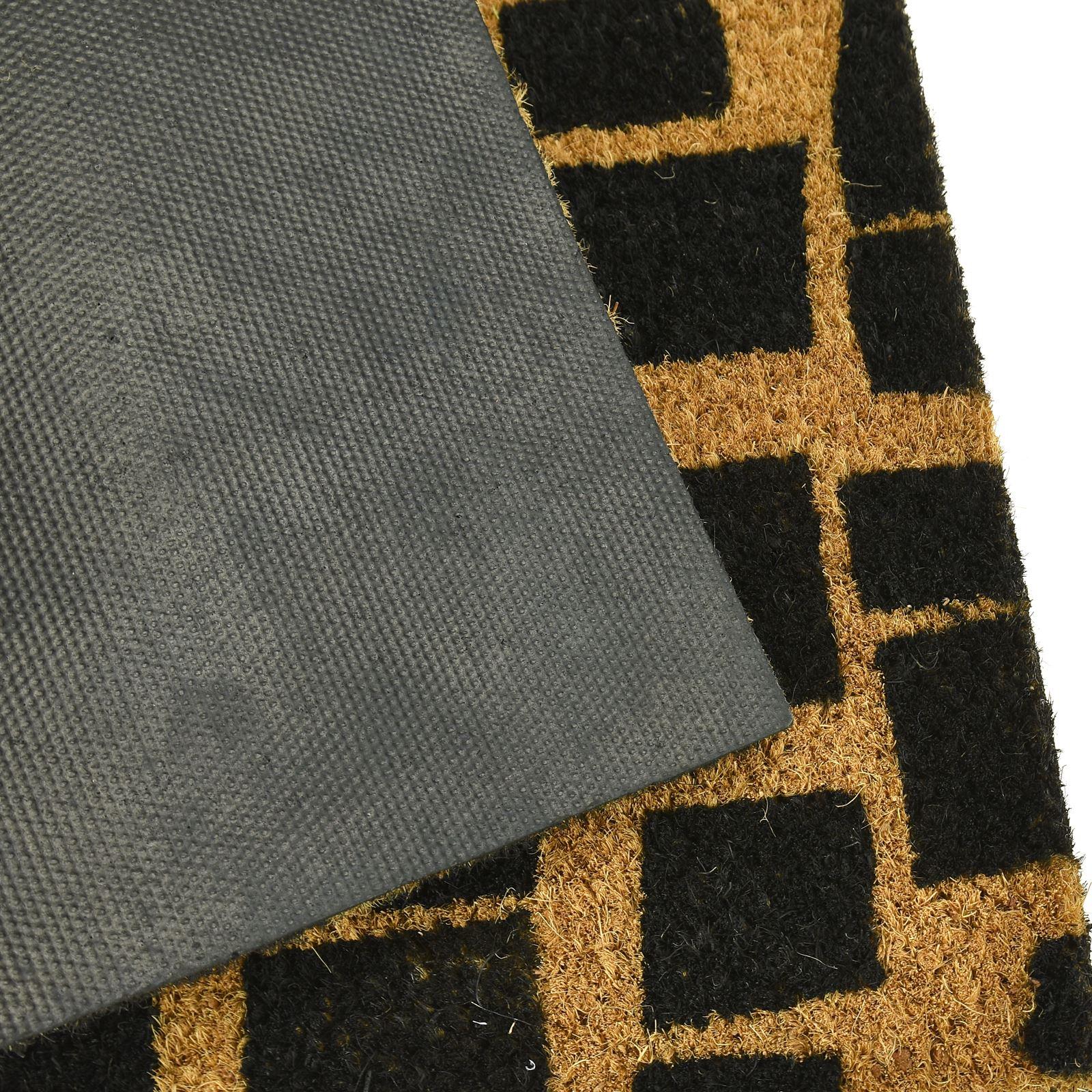 Plain-Non-Slip-Door-Mat-Tough-Natural-Coir-PVC-Back-Welcome-Doormat-40-x-60cm miniatura 22