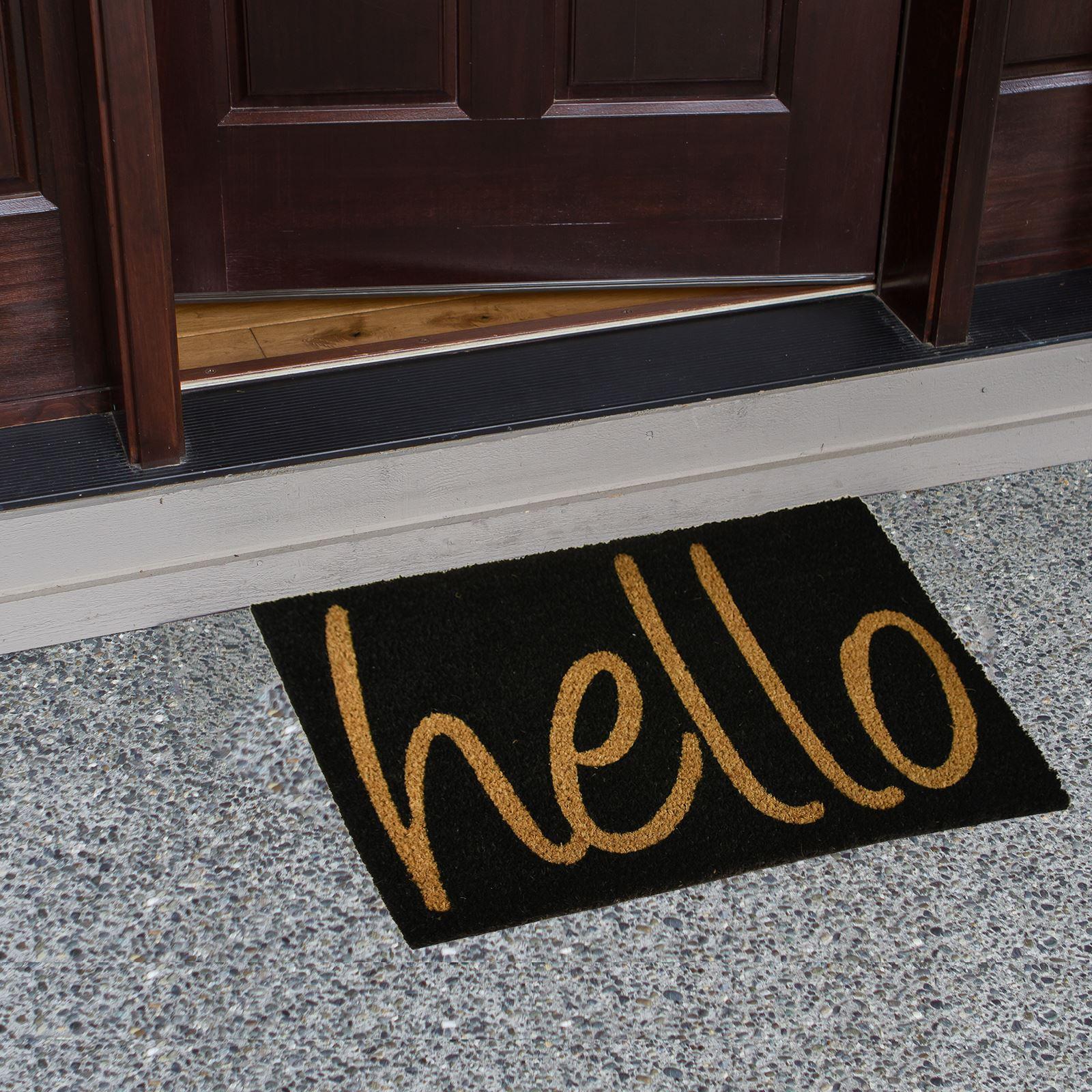 Plain-Non-Slip-Door-Mat-Tough-Natural-Coir-PVC-Back-Welcome-Doormat-40-x-60cm miniatura 54