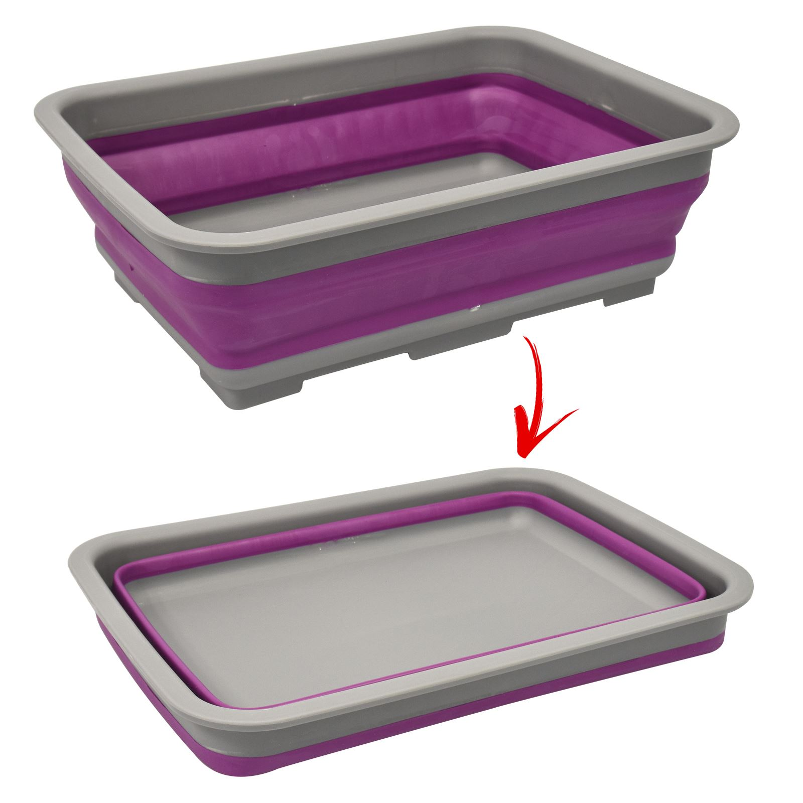 foldable collapsible washing up bowl dish kitchen camping. Black Bedroom Furniture Sets. Home Design Ideas
