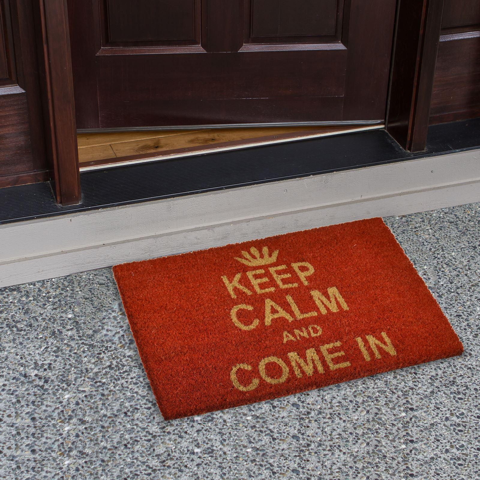Plain-Non-Slip-Door-Mat-Tough-Natural-Coir-PVC-Back-Welcome-Doormat-40-x-60cm miniatura 79