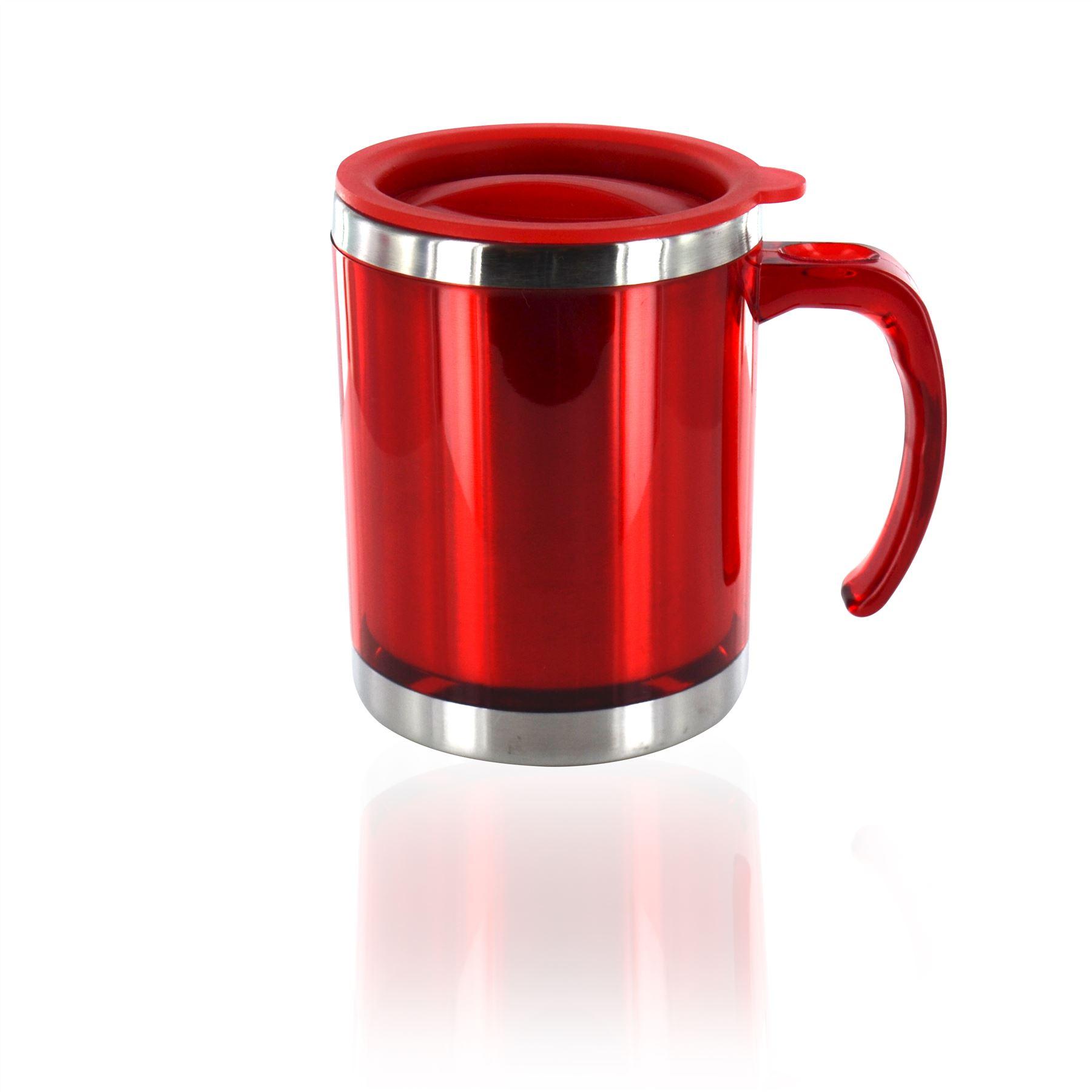 Thermal Travel Mug Insulated Coffee Tea Flask Cup ...