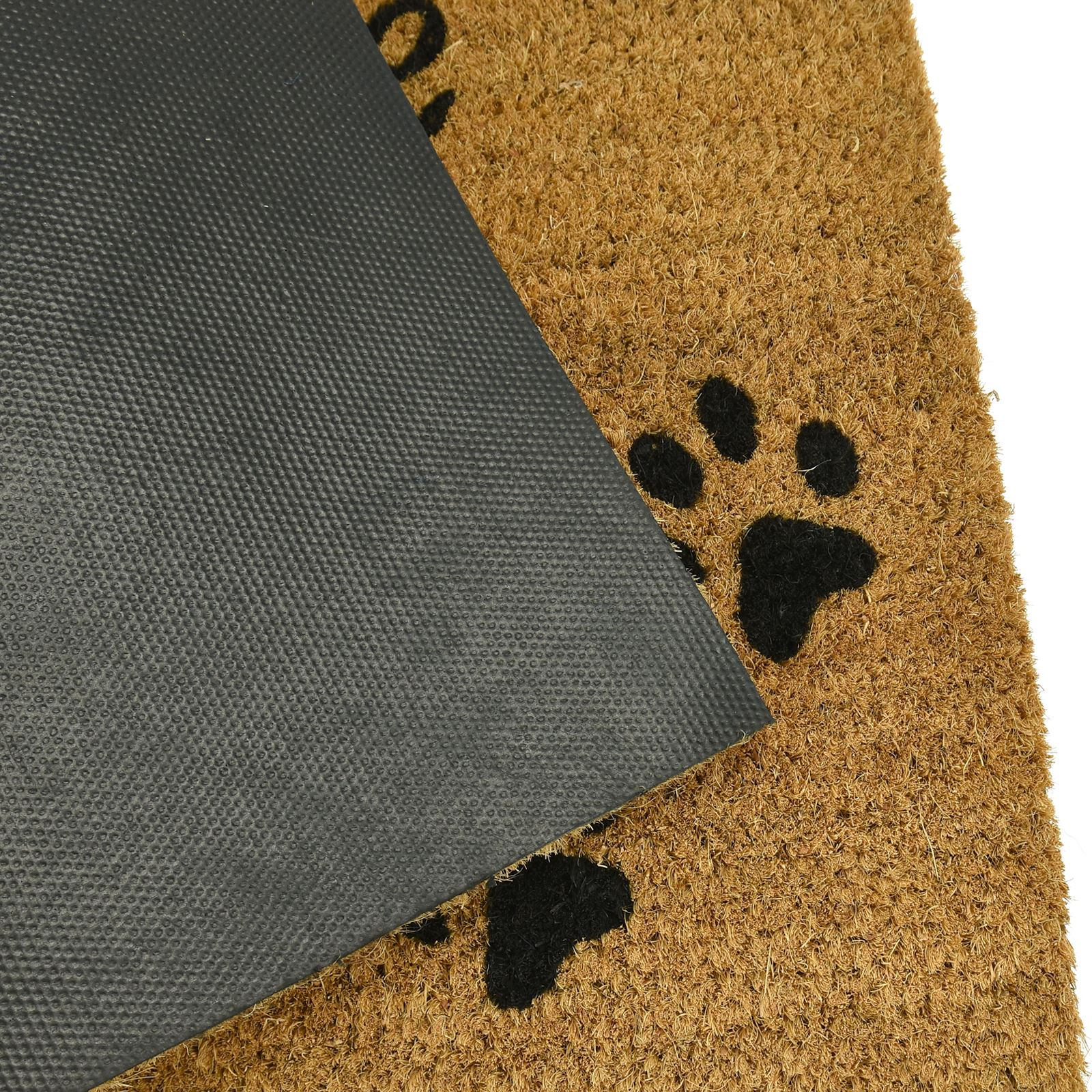 Plain-Non-Slip-Door-Mat-Tough-Natural-Coir-PVC-Back-Welcome-Doormat-40-x-60cm miniatura 102