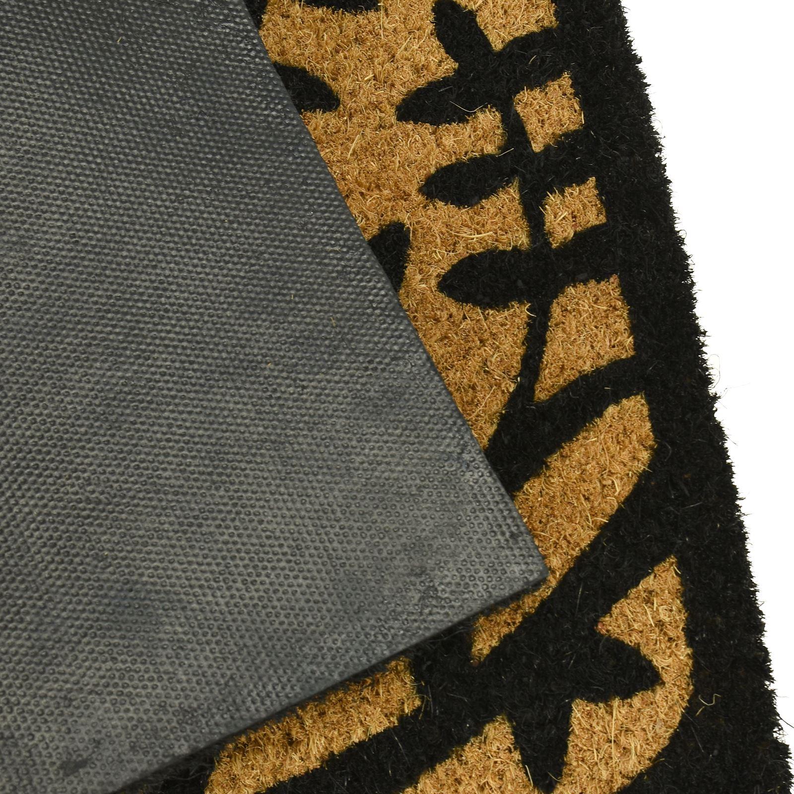 Plain-Non-Slip-Door-Mat-Tough-Natural-Coir-PVC-Back-Welcome-Doormat-40-x-60cm miniatura 91