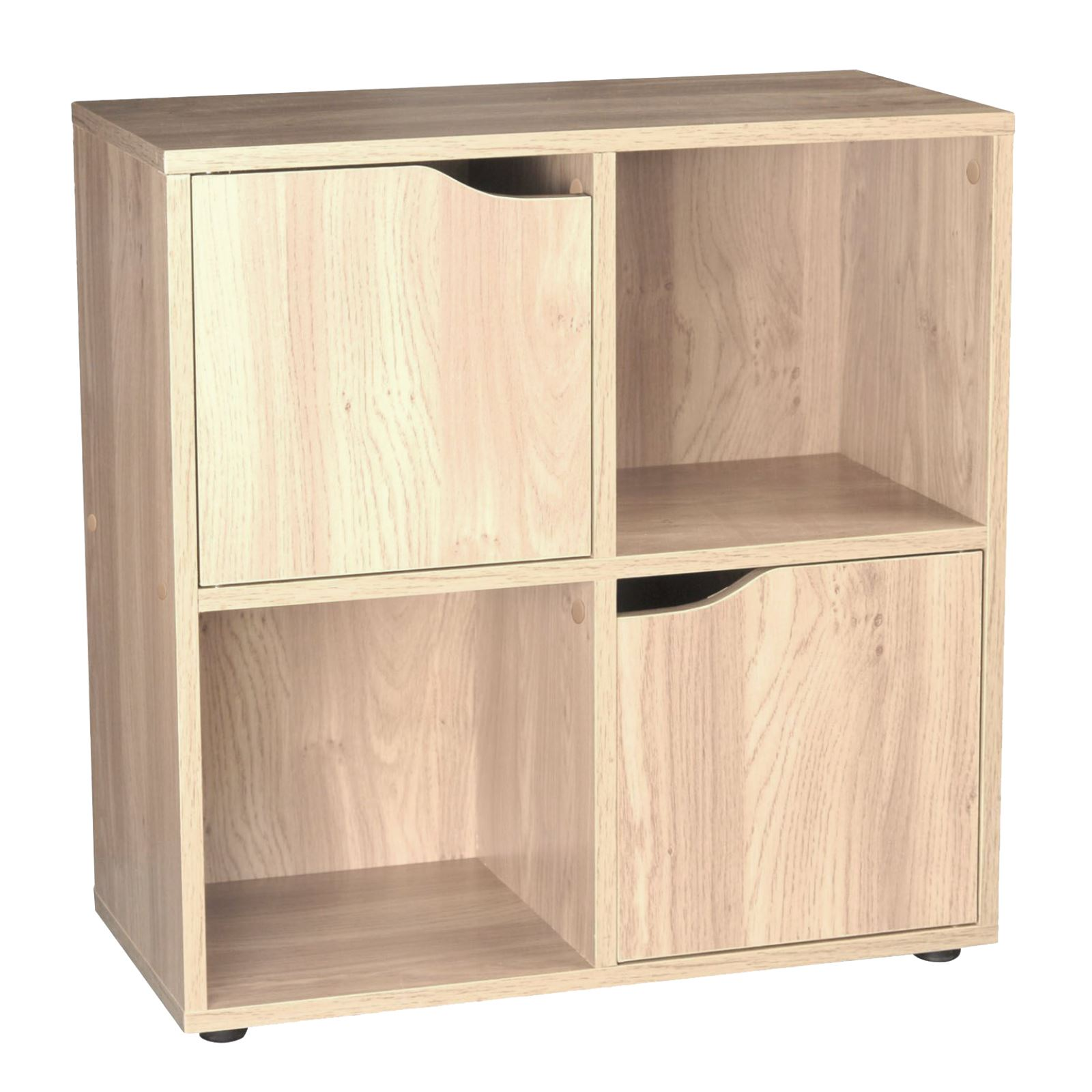 wooden 4 cube 2 doors storage unit cupboard bookcase shelving