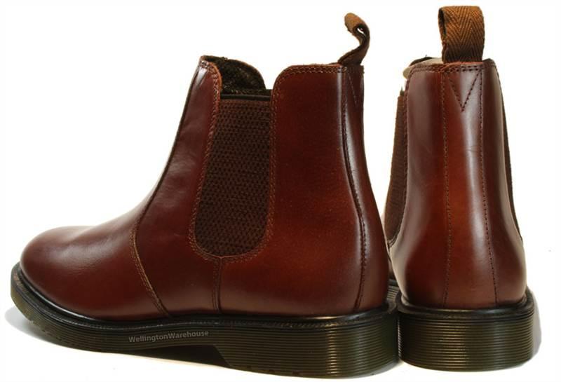 221a736da9e83 Details about Mens Leather Burgundy Brown Oaktrak Winterhill Chelsea Dealer  Boots OxBlood 6-12