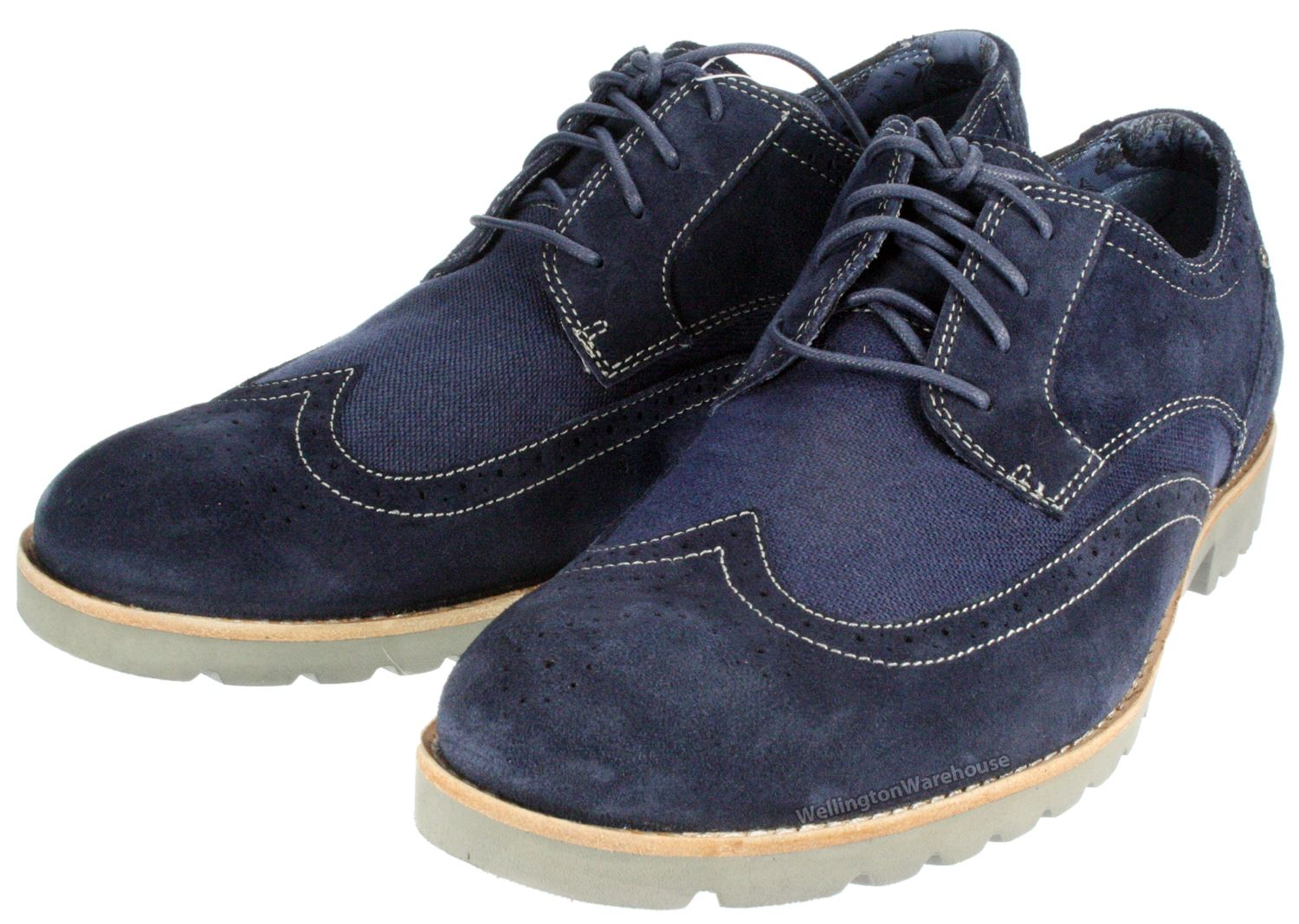 Rockport-Mens-K73347-Navy-suede-leather-lace-up-