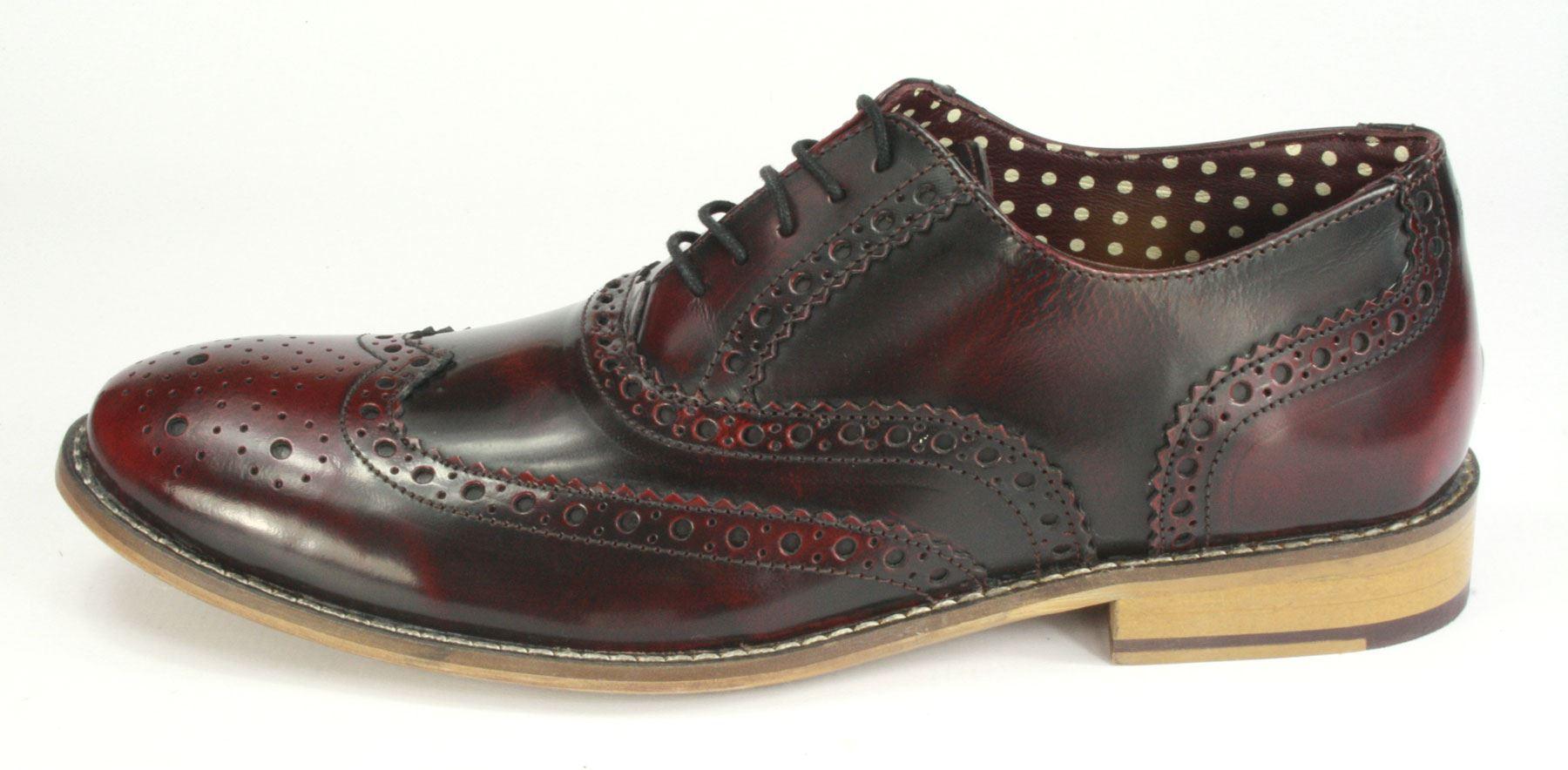 Londres-Brogues-Para-Hombre-Cuero-Encaje-hasta-la-punta-del-ala-formal-Gatsby-Noche-zapato-bajo-de