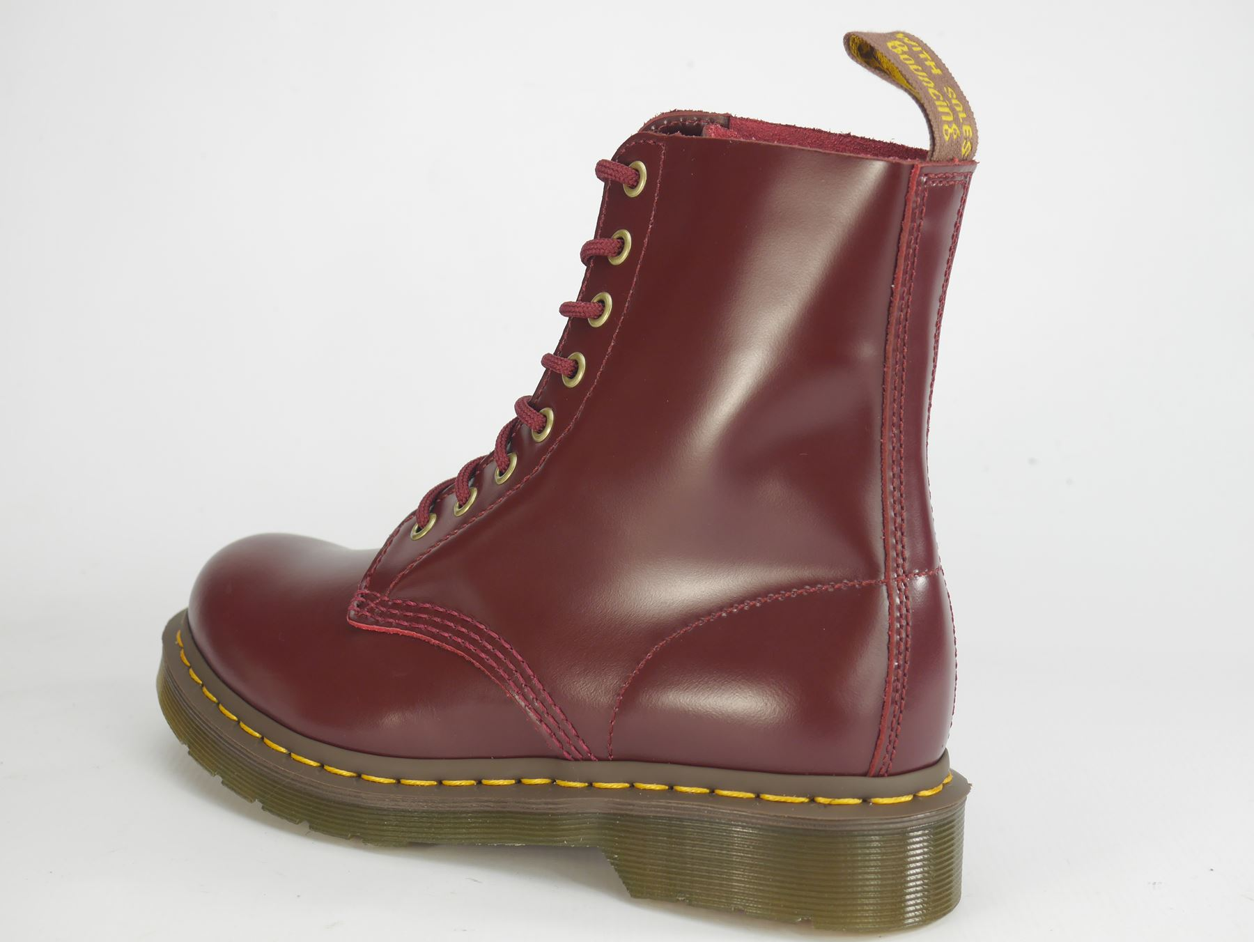 Dr Martens Pascal 8 Eye 1460 Brown Oxblood Lace Up Ladies Boots  f3469d2e0