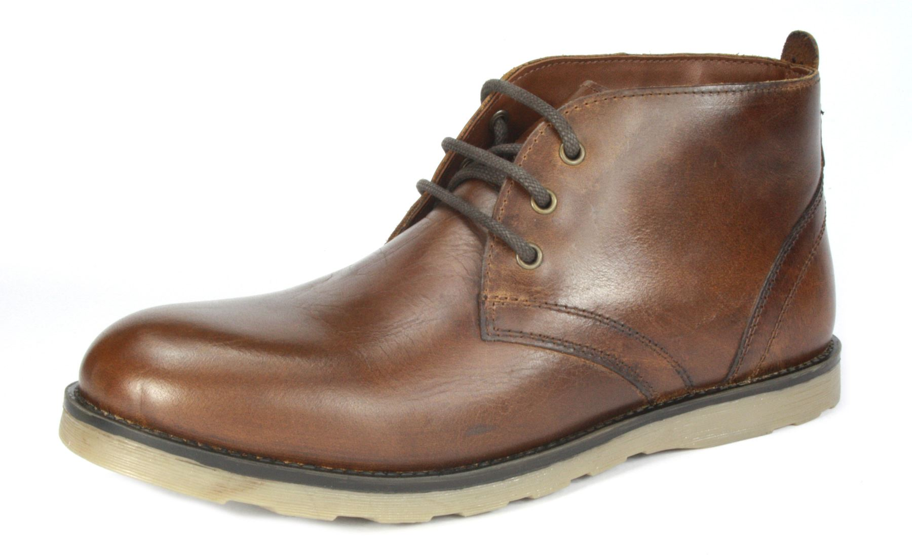 833d53efef0ff Red Tape Tiffey Tan Brown Real Leather Lace Up Desert Boots Formal ...