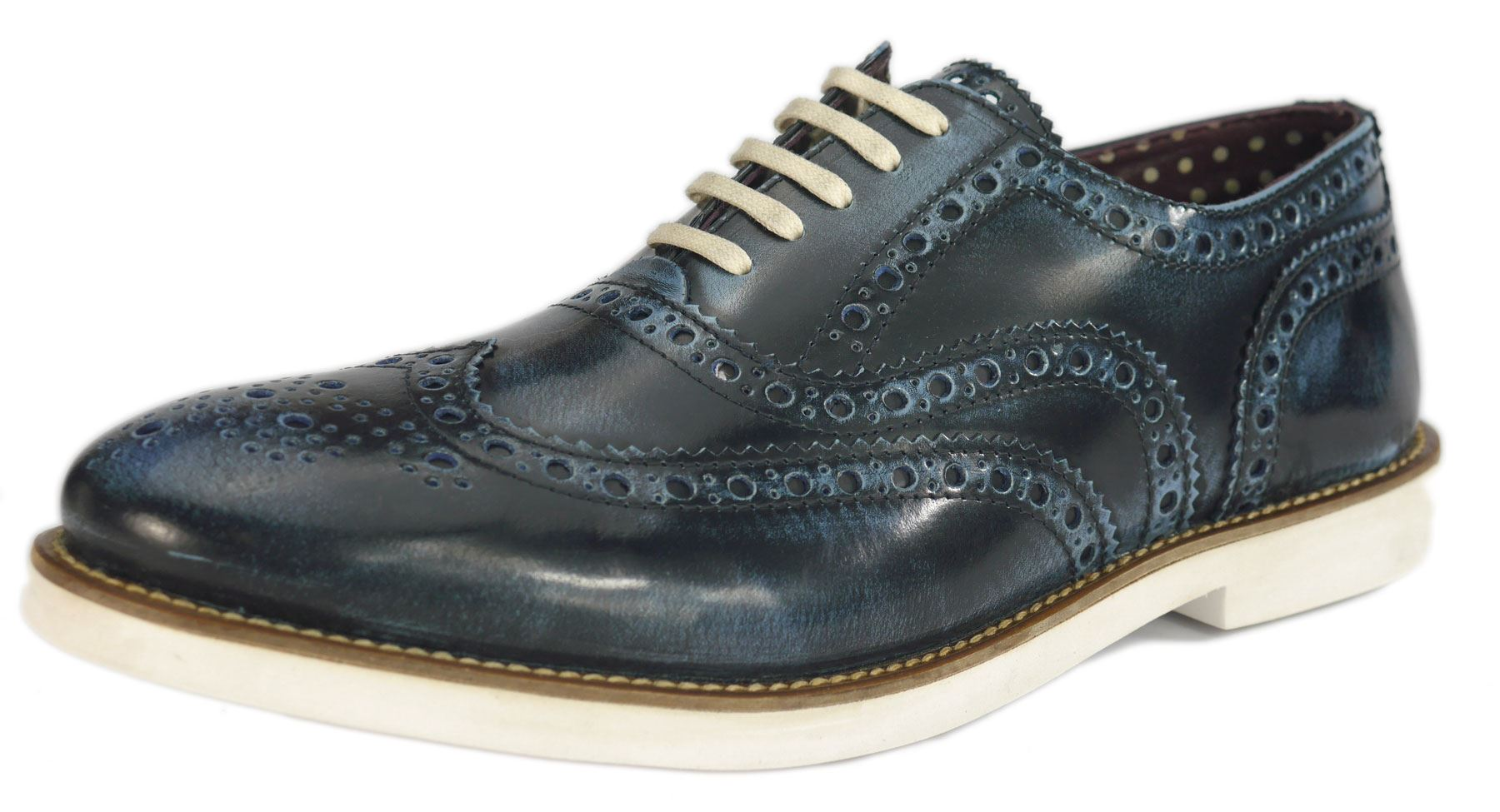 London Brogues Farnham  Herren Leder Lace Up Casual Formal Formal Formal Contrast Schuhes f0679e