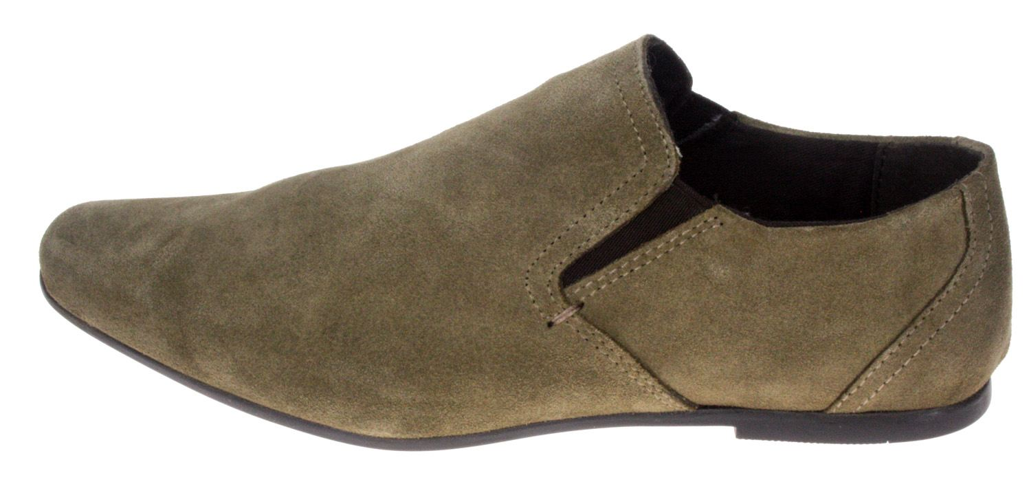 Boys Red Tape Slip On Stone Suede Shoes Kids Pointy Toe slip on UK 1 2 3 4 5 6