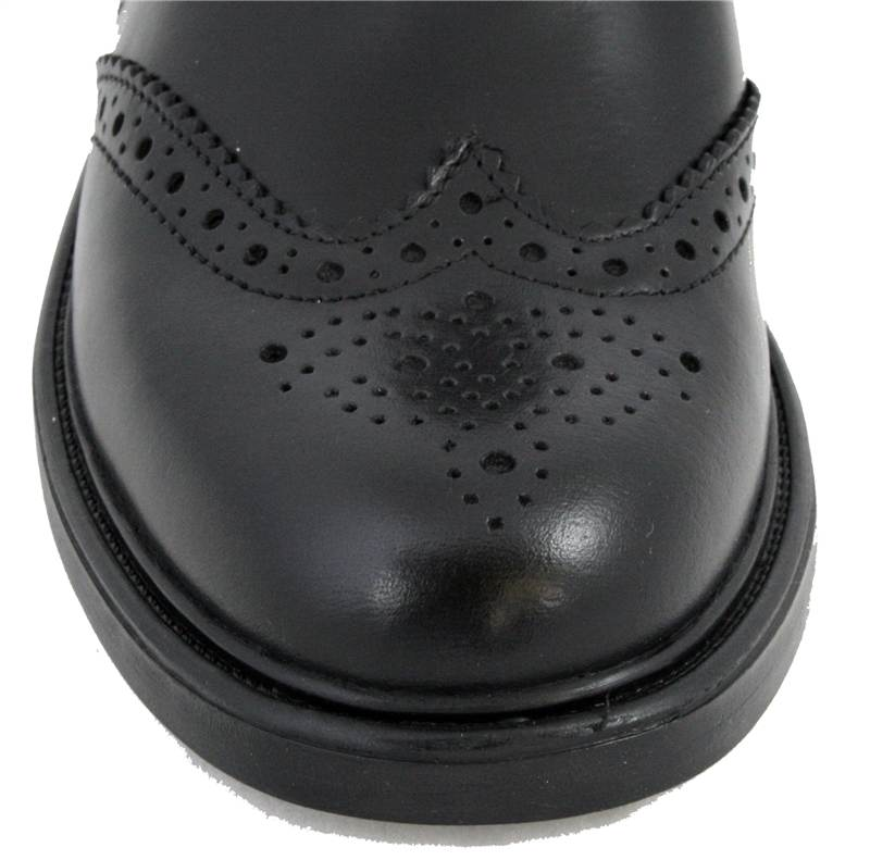 Black Brogue Pull On Chelsea Boots JR 9