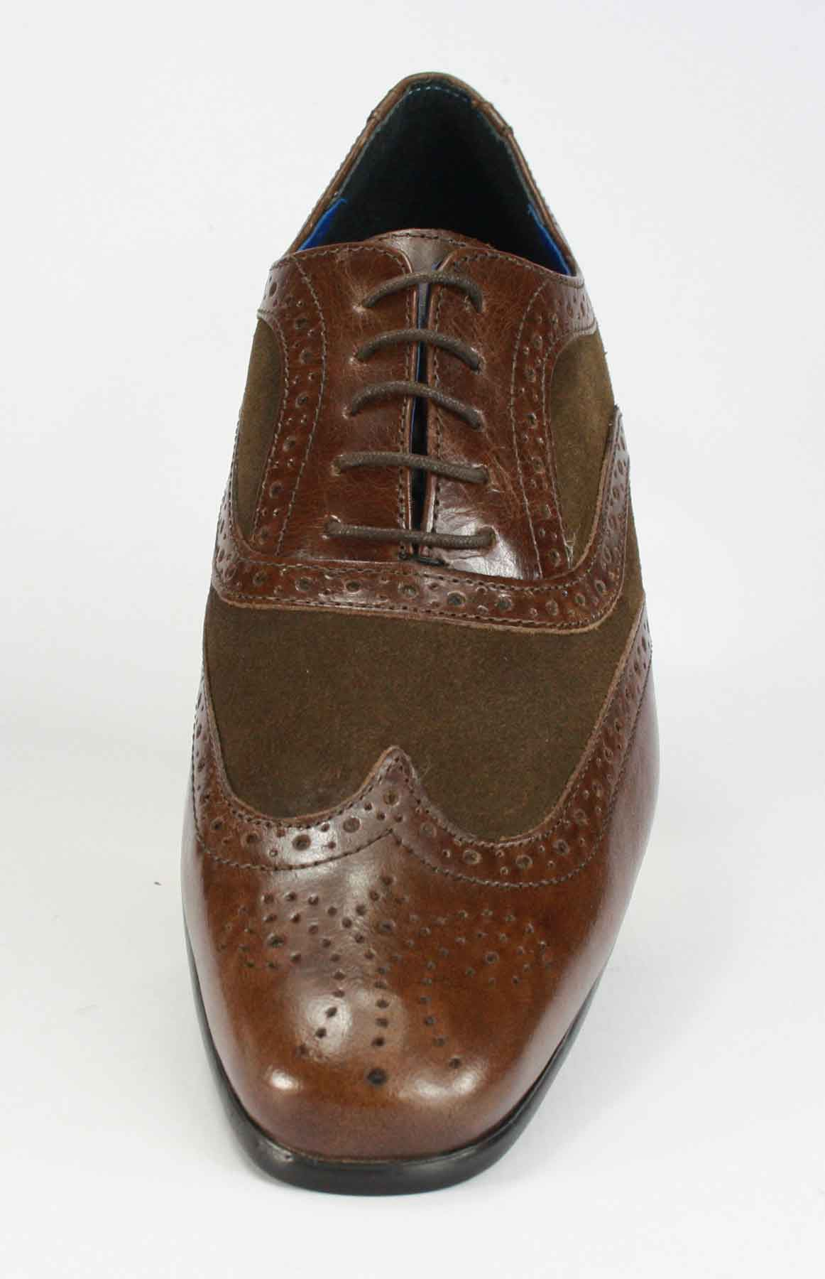 Homme-Red-Tape-Richelieu-Lacets-Smart-Chaussures-en-cuir-marron-tan-navy-en-daim-noir