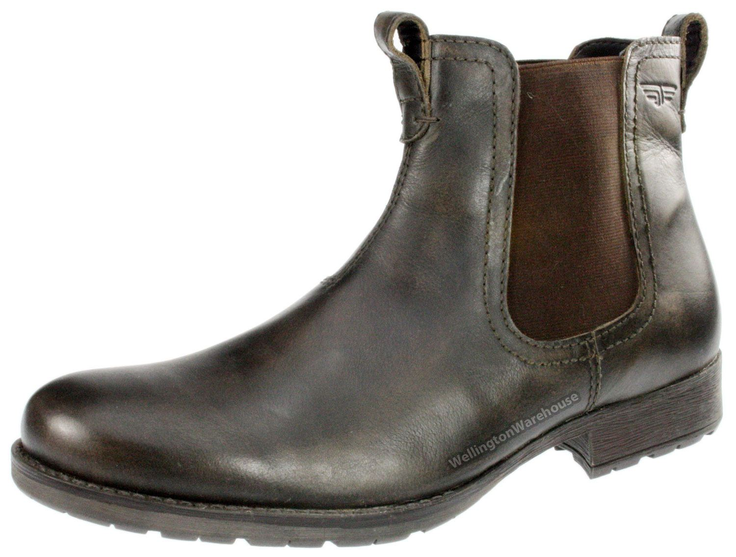 mens black or brown real leather lake chelsea