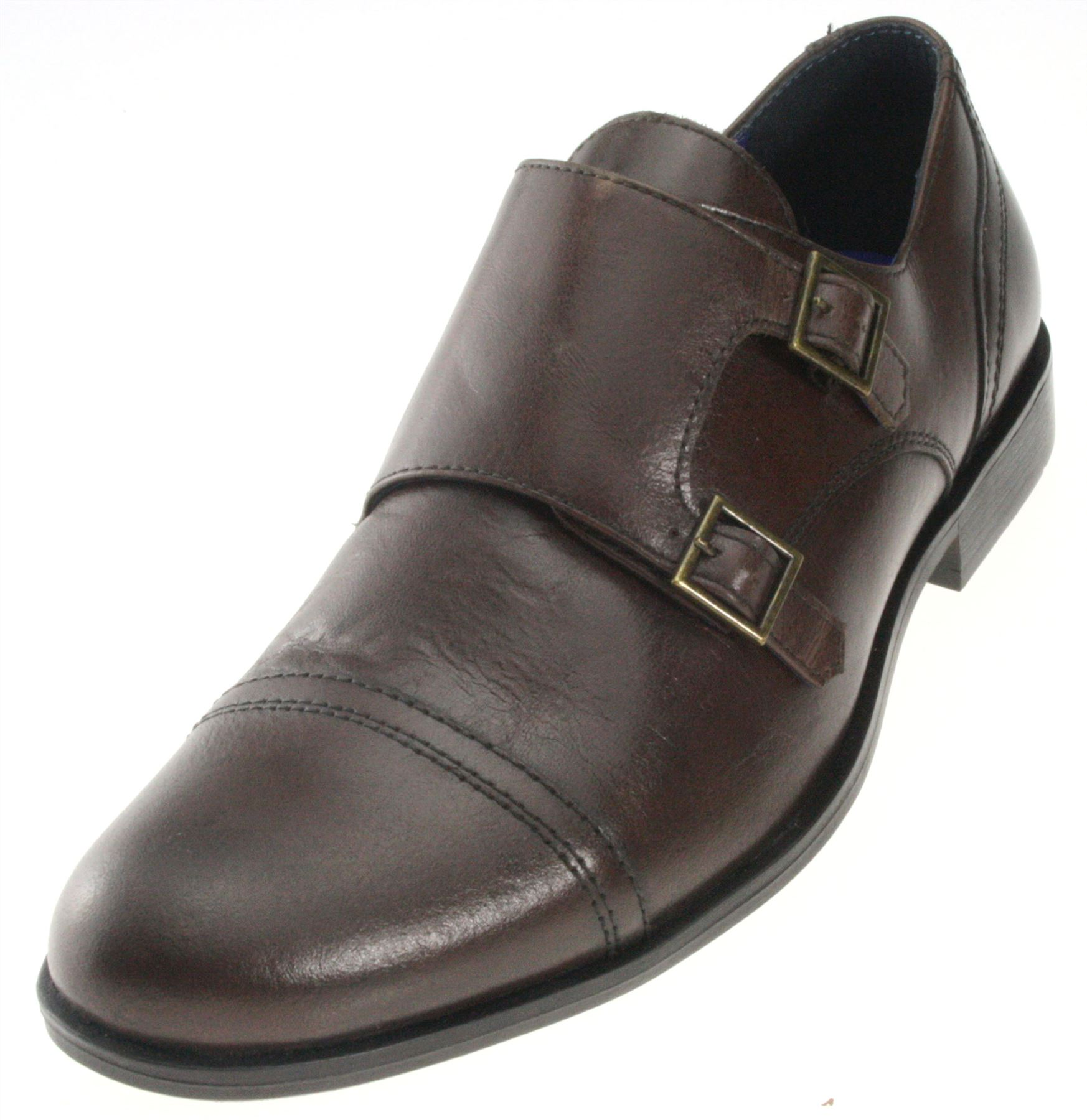 Mens Red Tape Monk Double Strap Real