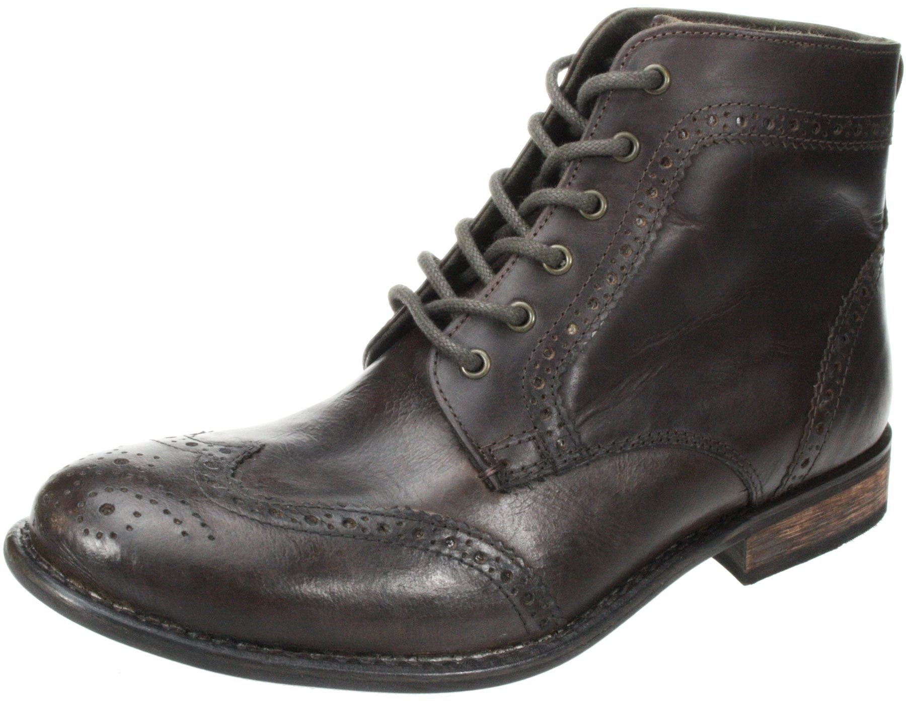 Mens Red tape Nant black brown lace up leather brogue ...