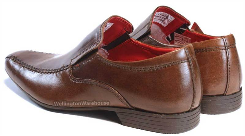 Red Tape Wortley Kids Leather Black or