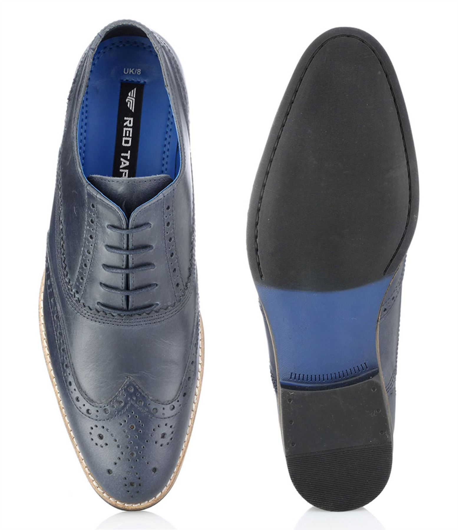 Red Tape Mens Leather Slim Lace Up