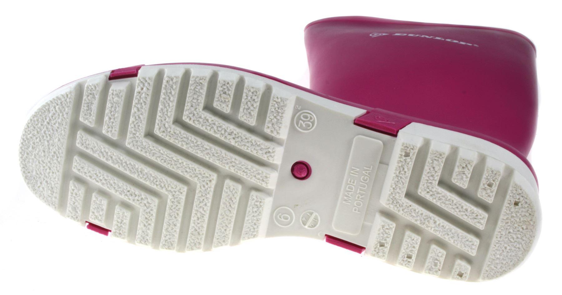 Dunlop Ladies Sport Wellies Pink Size
